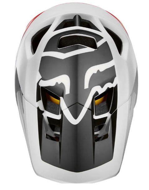 Capacete Fox ProFrame Full Face Pistol Branco / Preto / Vermelho