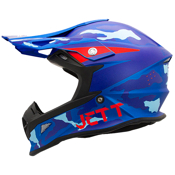 Capacete Jett Cross Fast Factory Edition 3 Azul / Vermelho