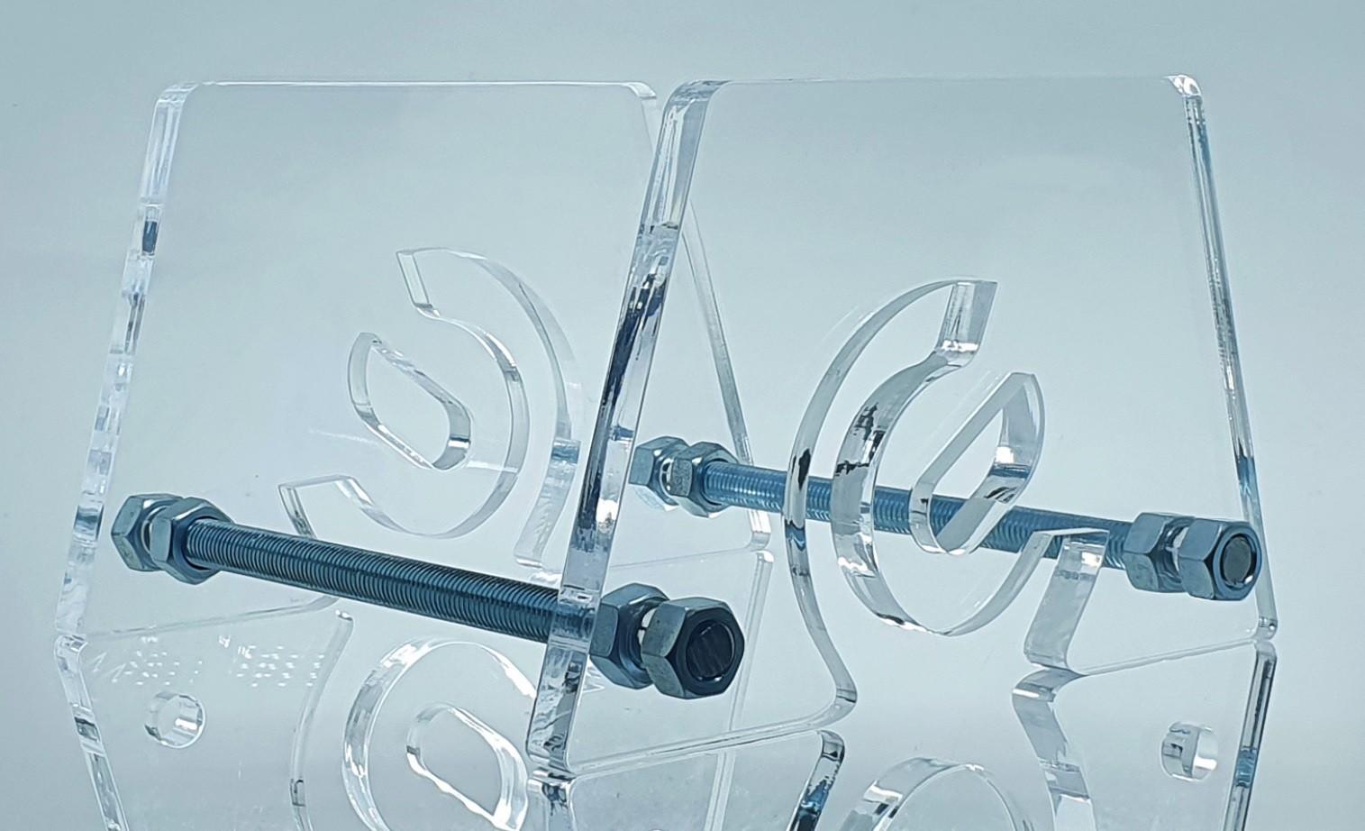 Suporte em acrílico 15mm para monociclo (diversos modelos)