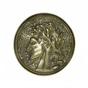 """Fivela para cinto """"troca fivela"""" em metal moeda da anti ga grécia"""