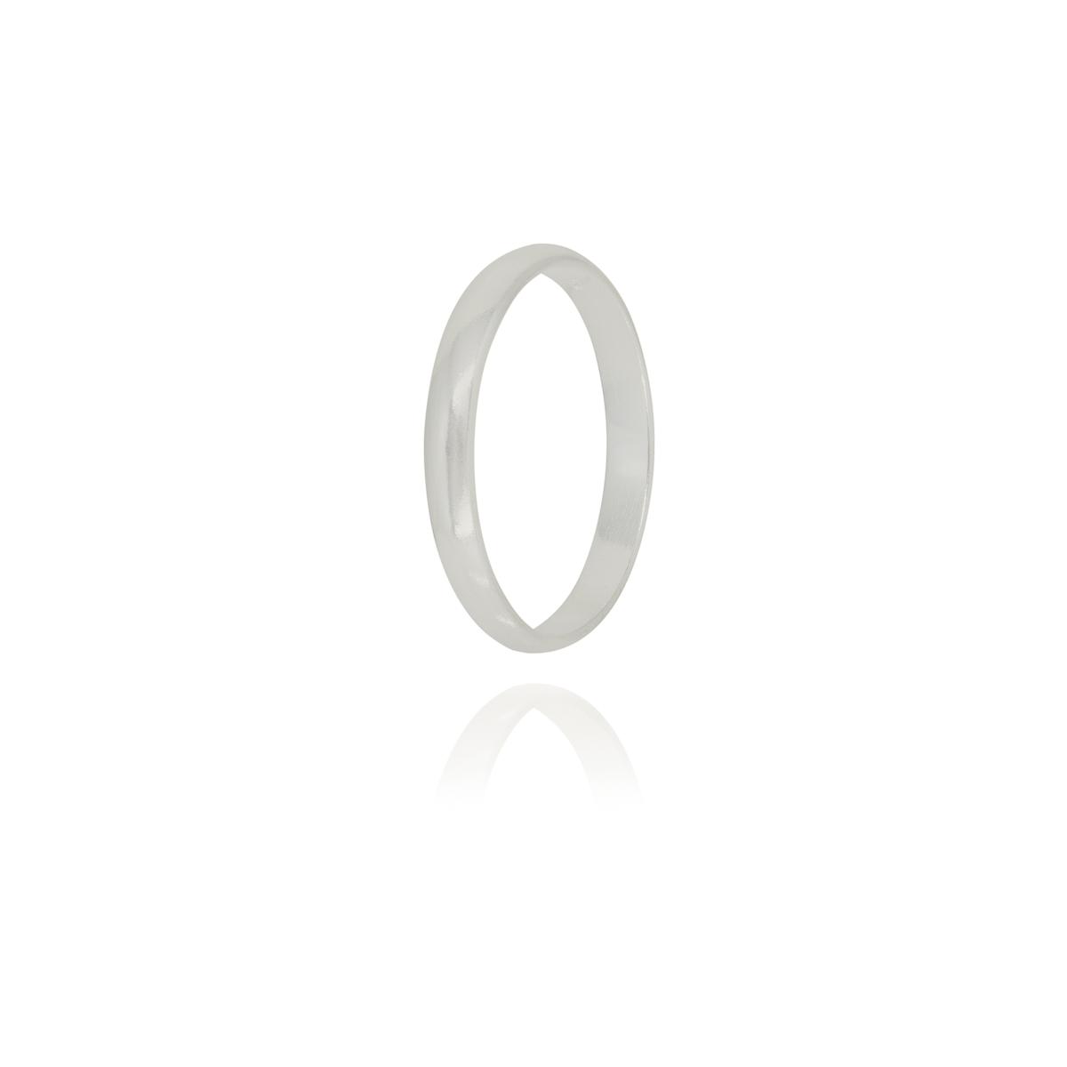 Aliança anatômica 3 mm joia em prata 925 maciça tradicional