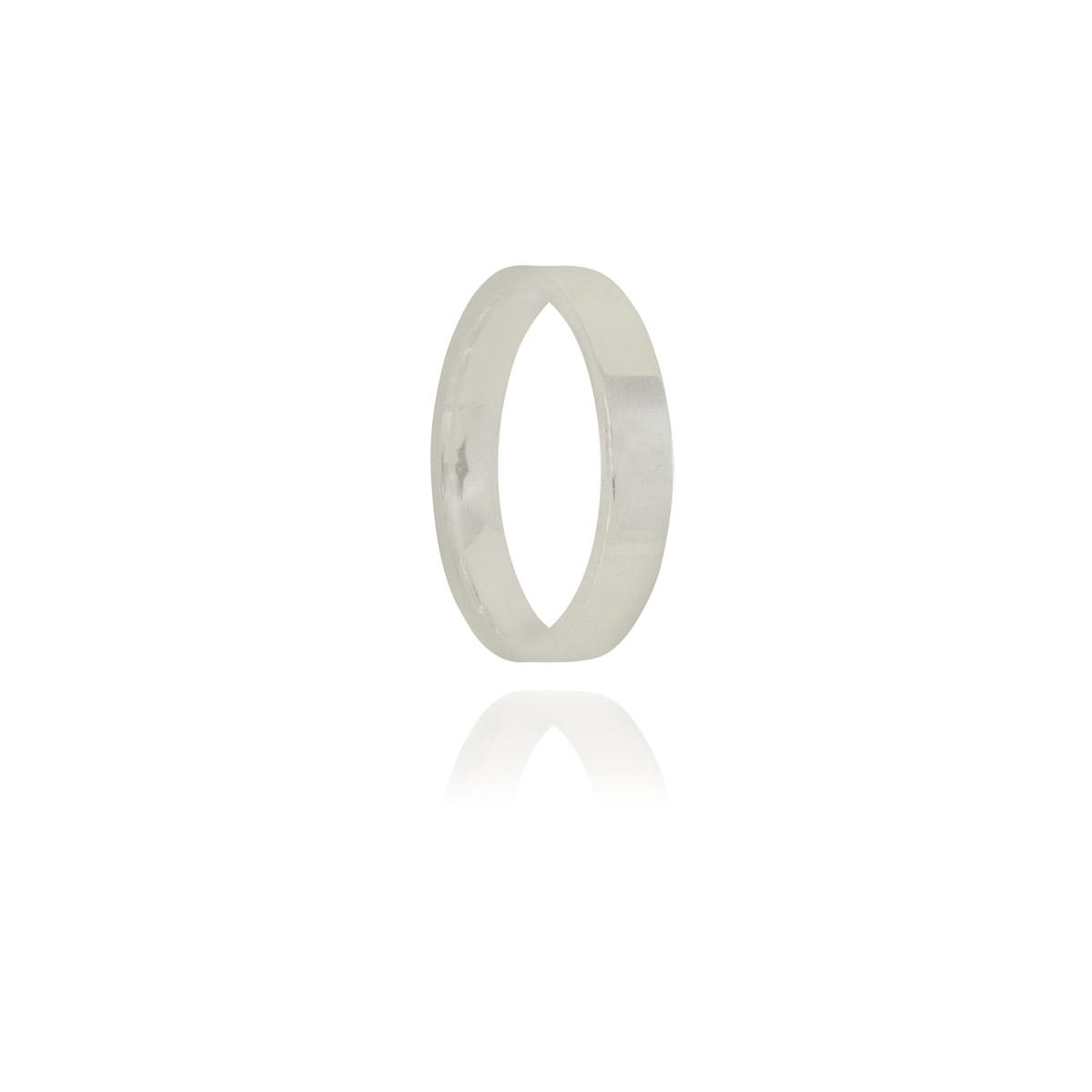Aliança anatômica prata 925 pura 3,5 mm
