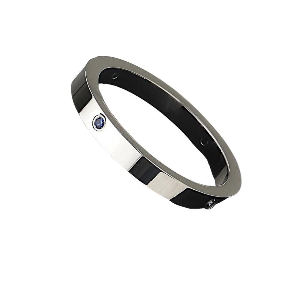 Aliança / anel aço inox e strass redonda não risca nem risca