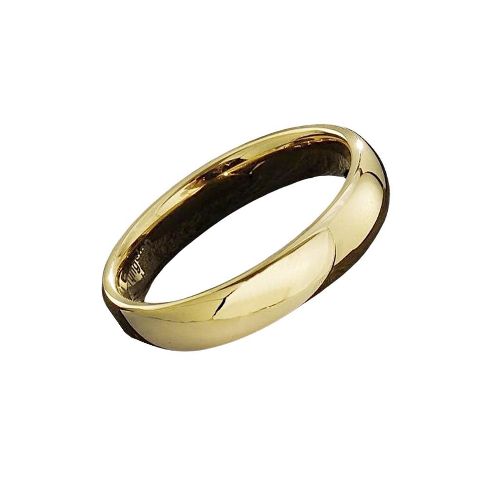 Aliança ou anel de tungstênio anatômico diamantado