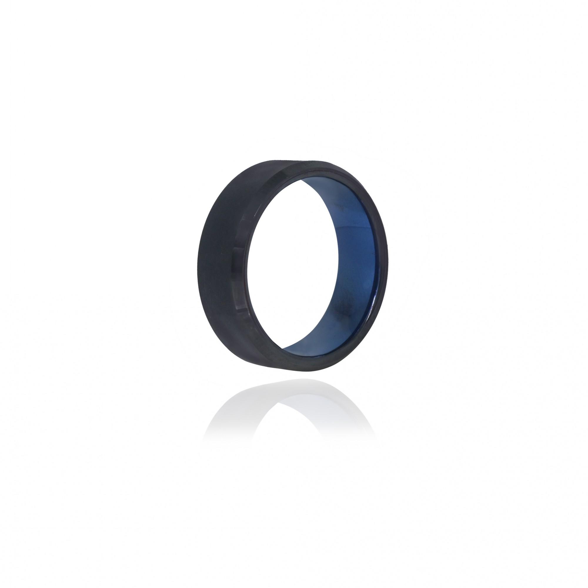 Aliança ou anel de tungstênio liso