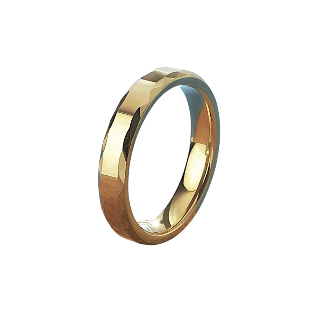 Aliança ou anel de tungstênio Sextavada 4mm