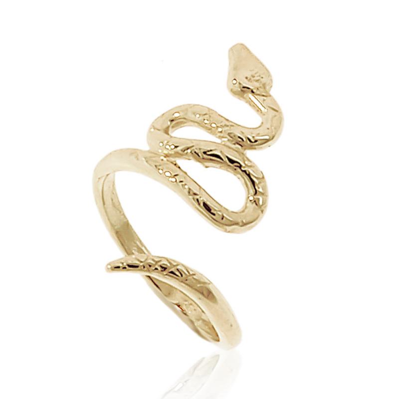 Anel falange Cobra semijoia folheada a ouro 18k ou ródio