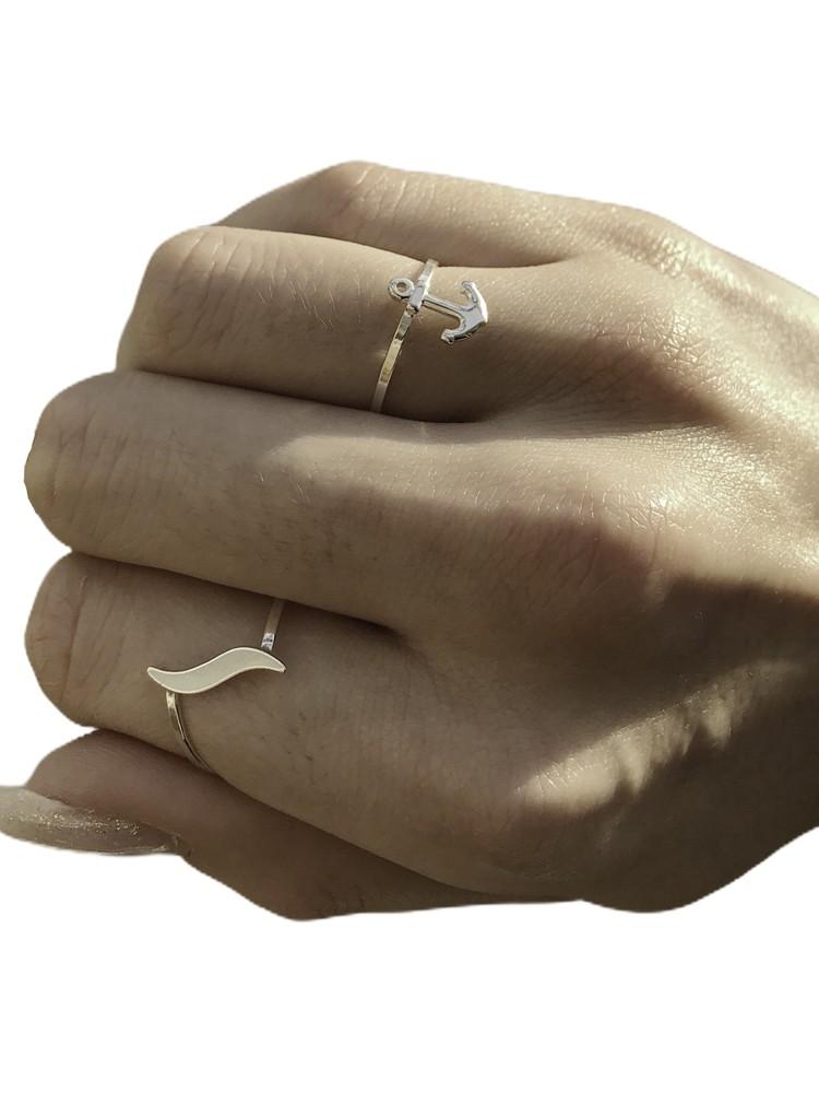 Anel joia em prata 925 Âncora