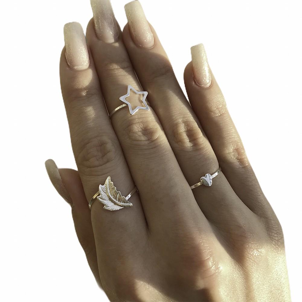 Anel joia em prata 925 coração mini