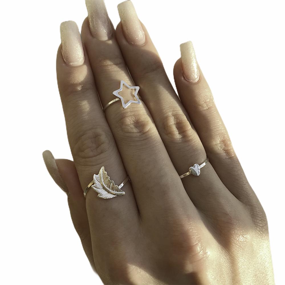 Anel joia prata de lei 925 pura coração mini hipoalergênica