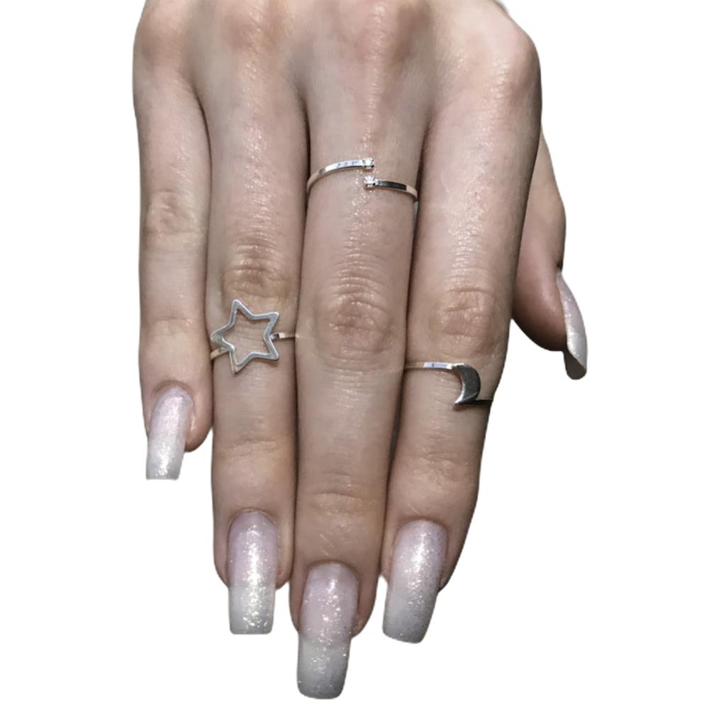 Anel joia prata de lei 925 pura Pontos de luz hipoalergênica