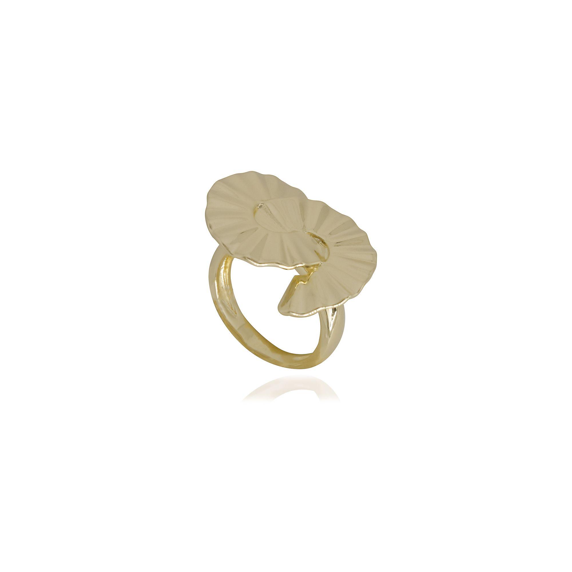 Anel semi joia Classic banhado a ouro 18k ou rhodium