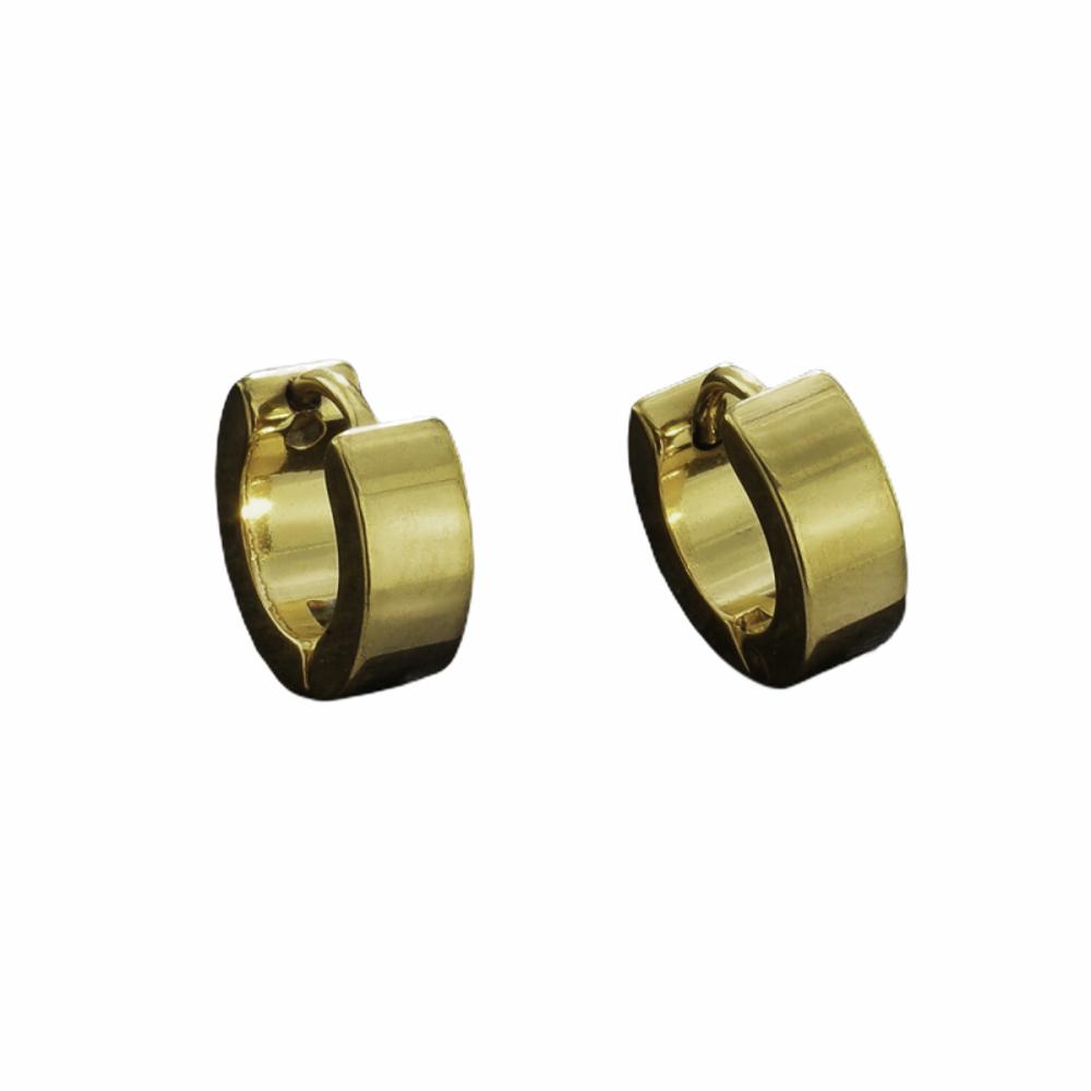 Argola aço inox e fecho modelo click Gold não escurece