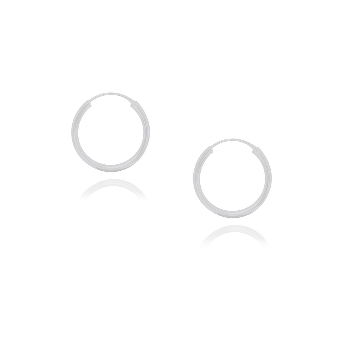 Argola joia em prata de lei 925 maciça hipoalergênica fina