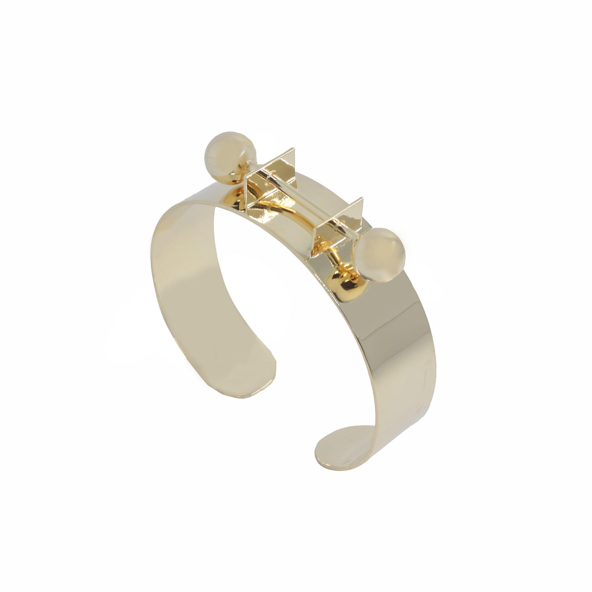 Bracelete bolas banhado a ouro 18k