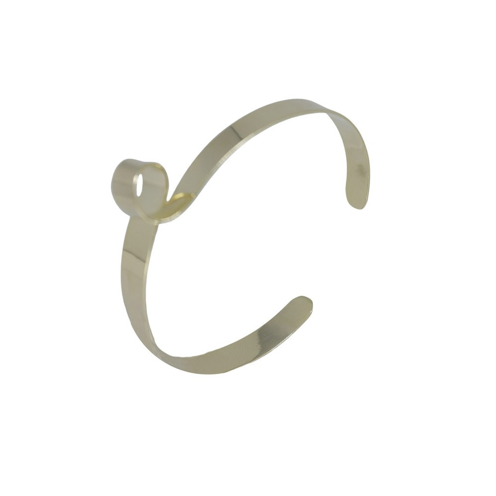 Bracelete folheado semijoia e regulável Looping