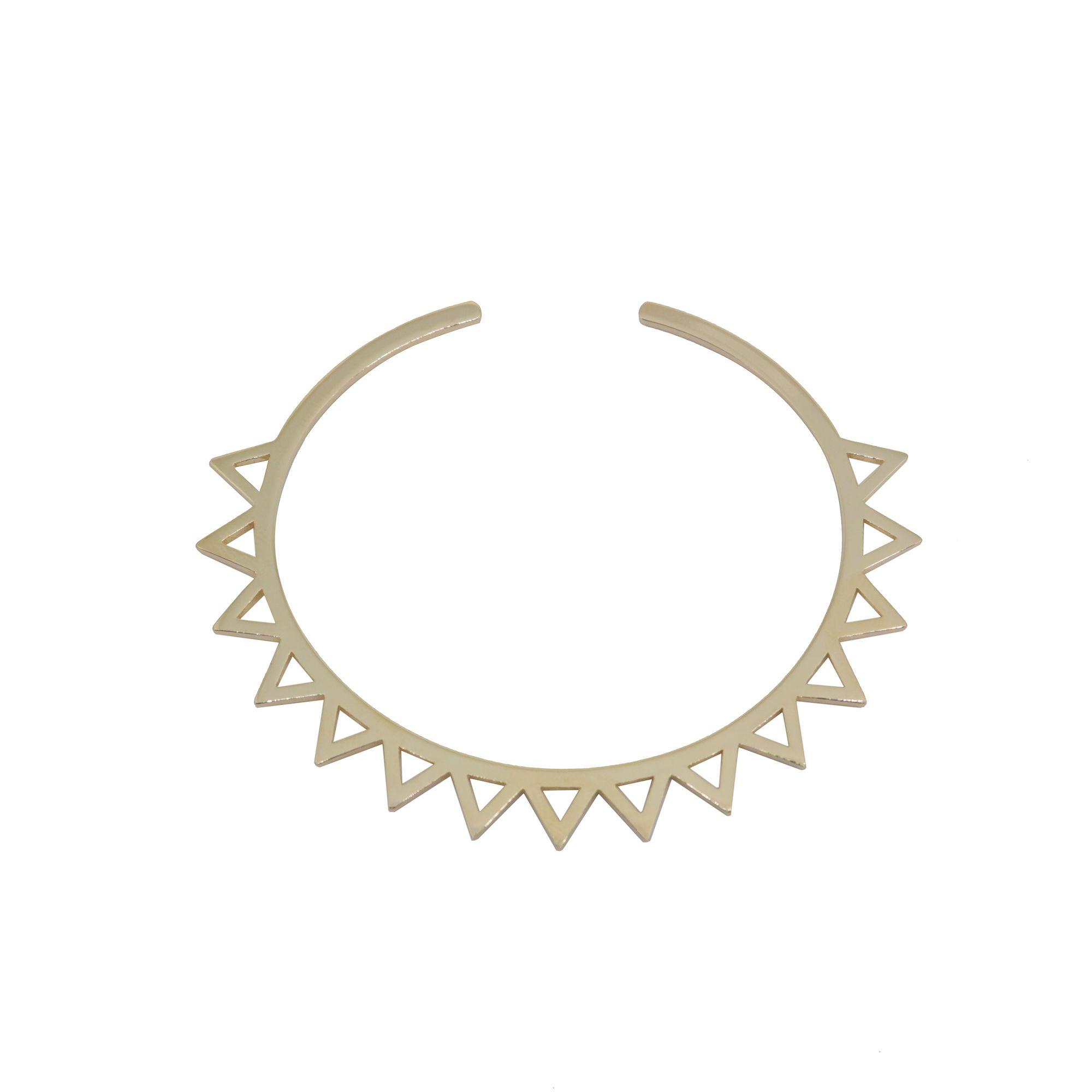 Bracelete Semi joia  pontas vazado banhado banhado a ouro 18k ou rhodium