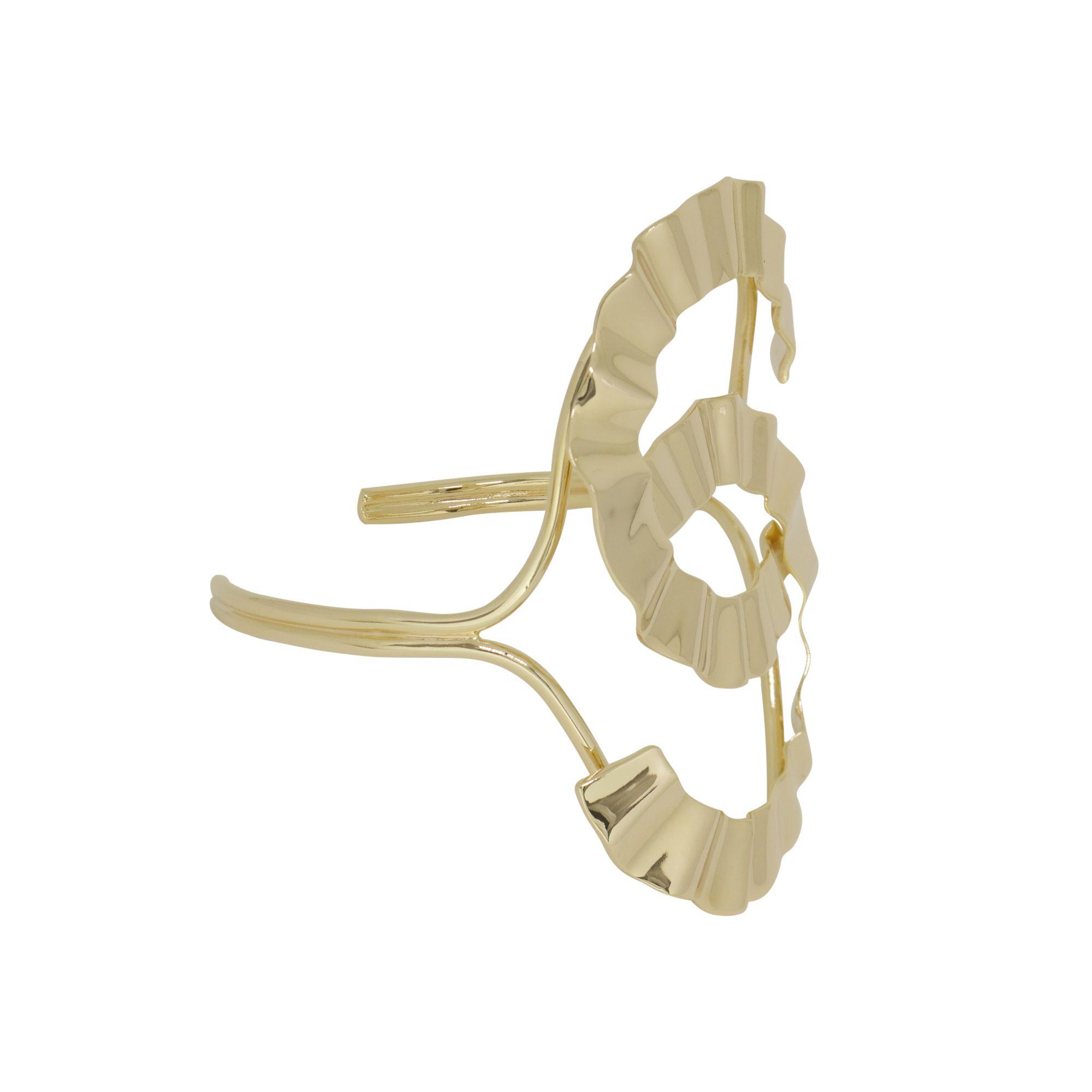 Bracelete folheada semijoia regulável Classic