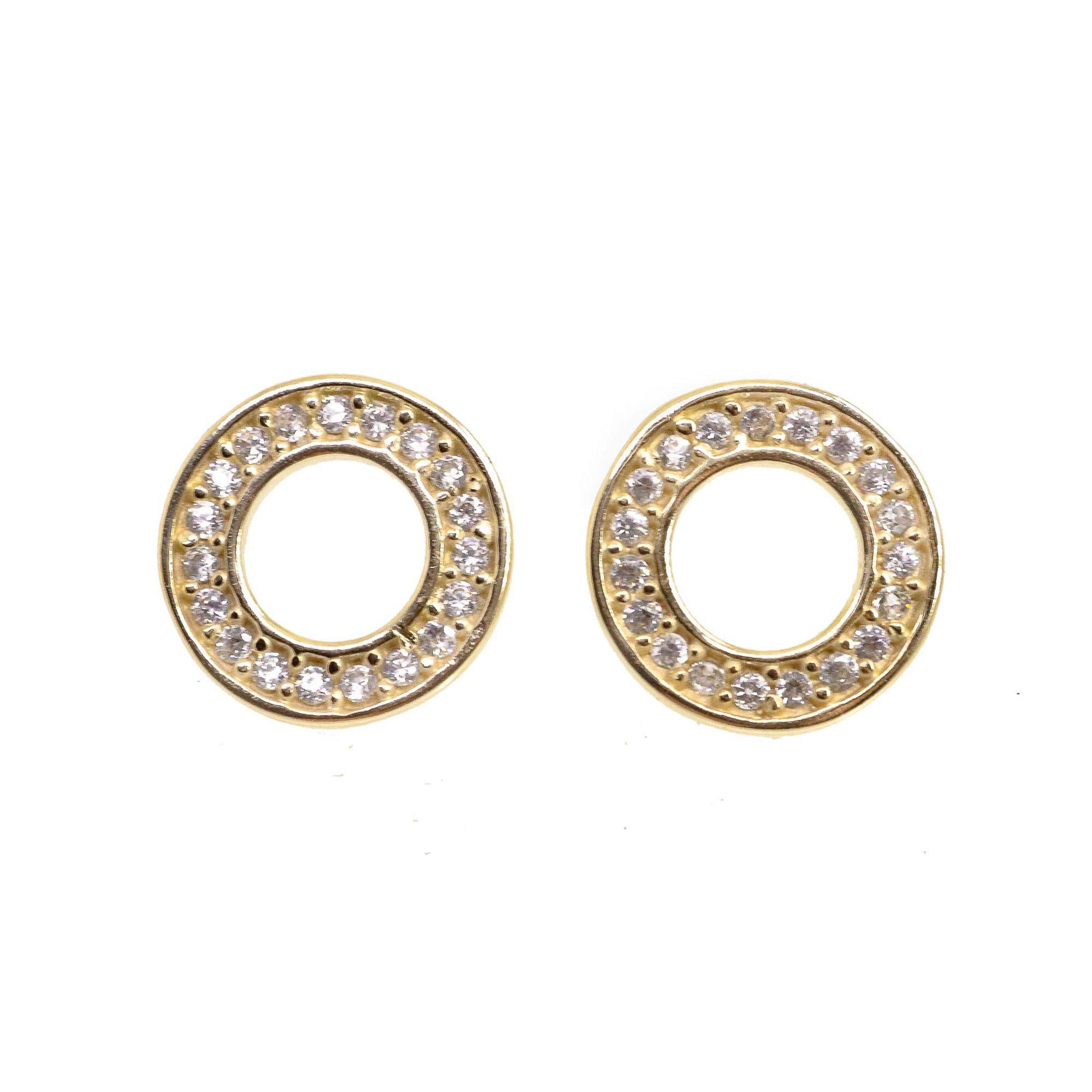 Brinco Semi joia  círculo Mimos banhado a ouro 18k ou rhodium