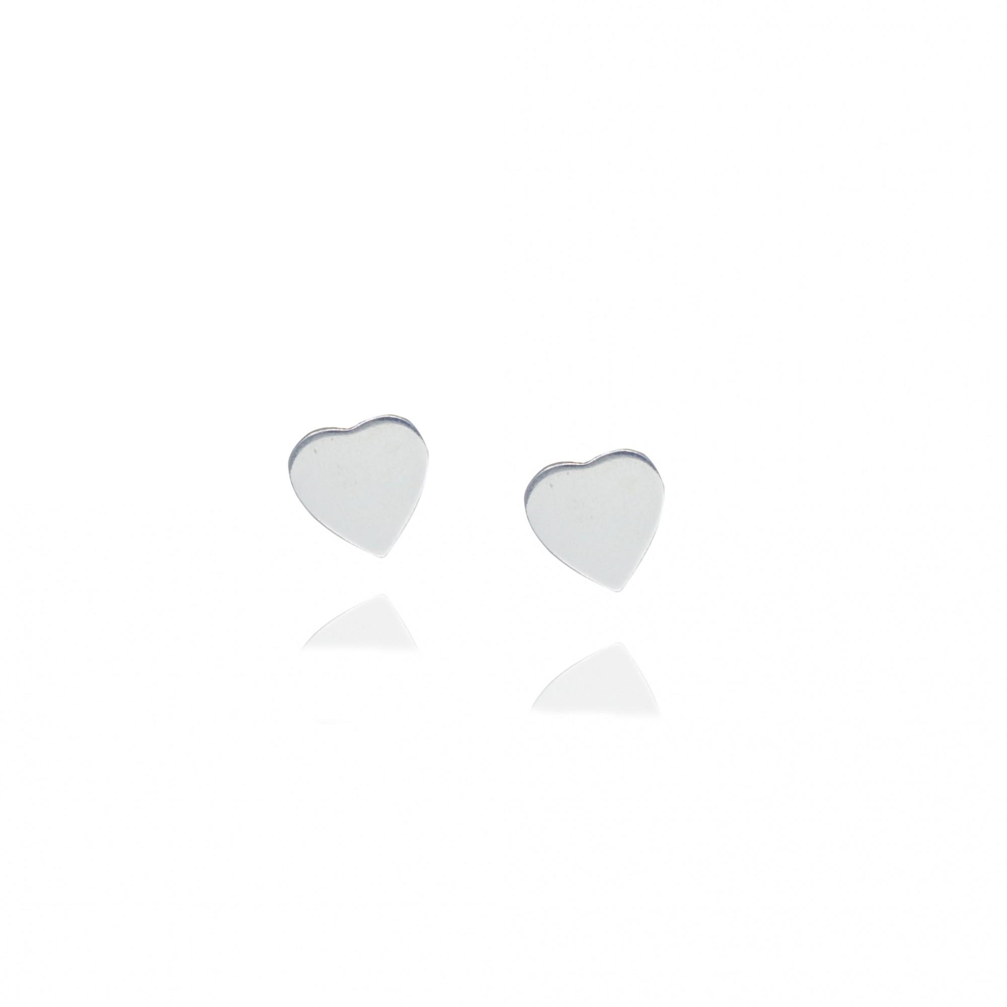 Brinco joia em prata 925 coração liso