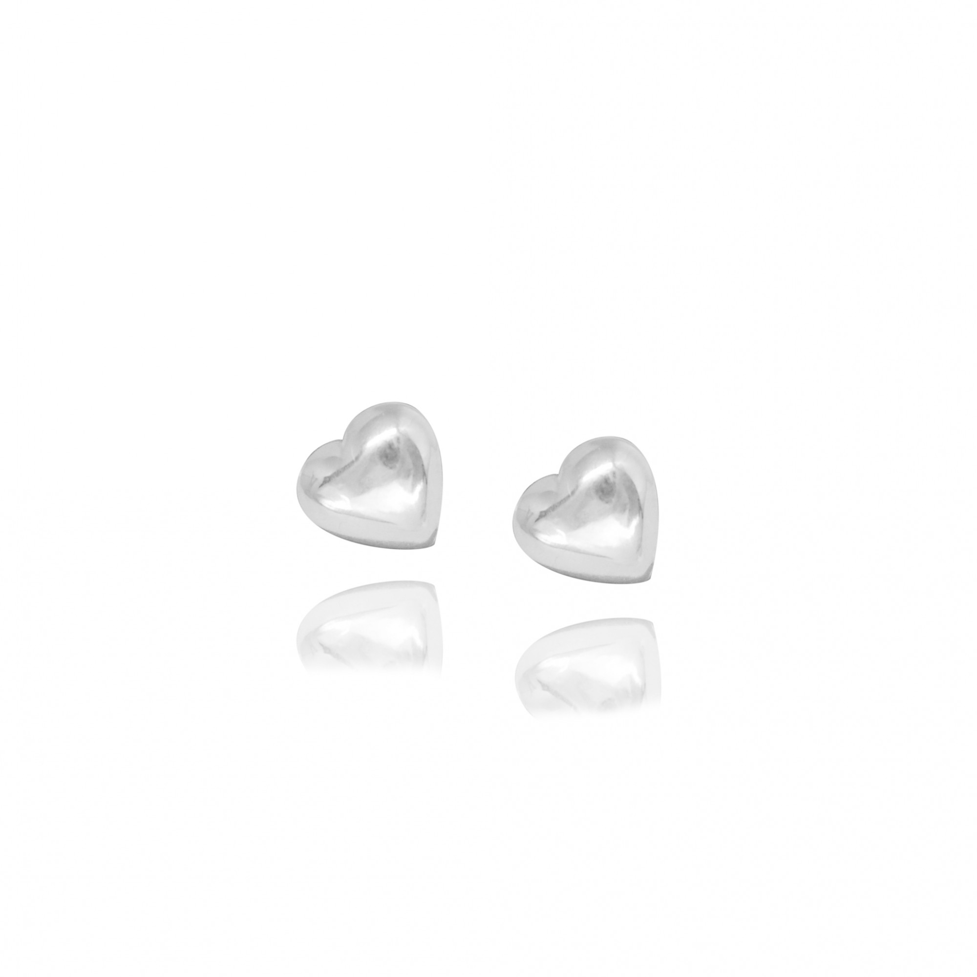 Brinco joia em prata 925 coração mini
