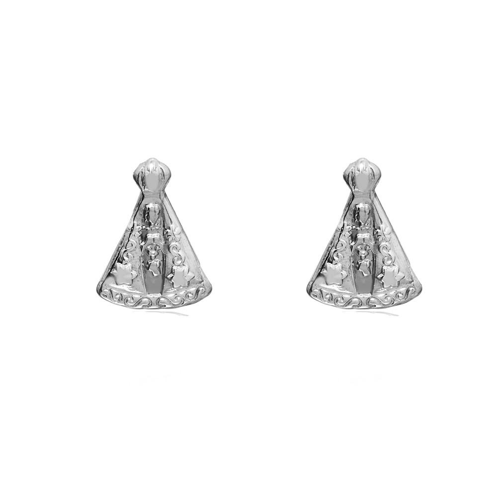 Brinco joia em prata 925 Nossa Senhora Aparecida