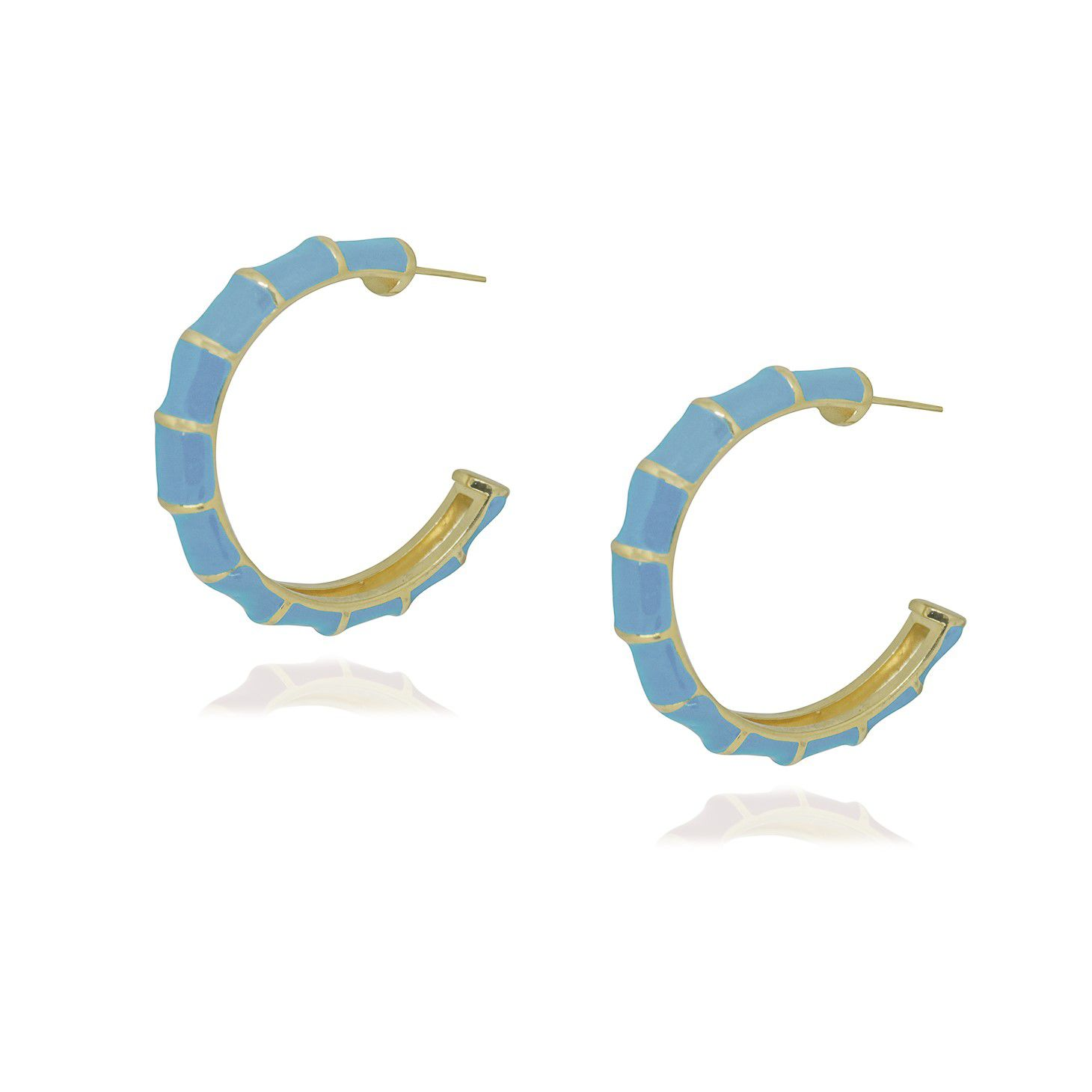 Brinco Semi joia Argola Elite Color 4 cm folheada a ouro 18k ou rhodium e resinada
