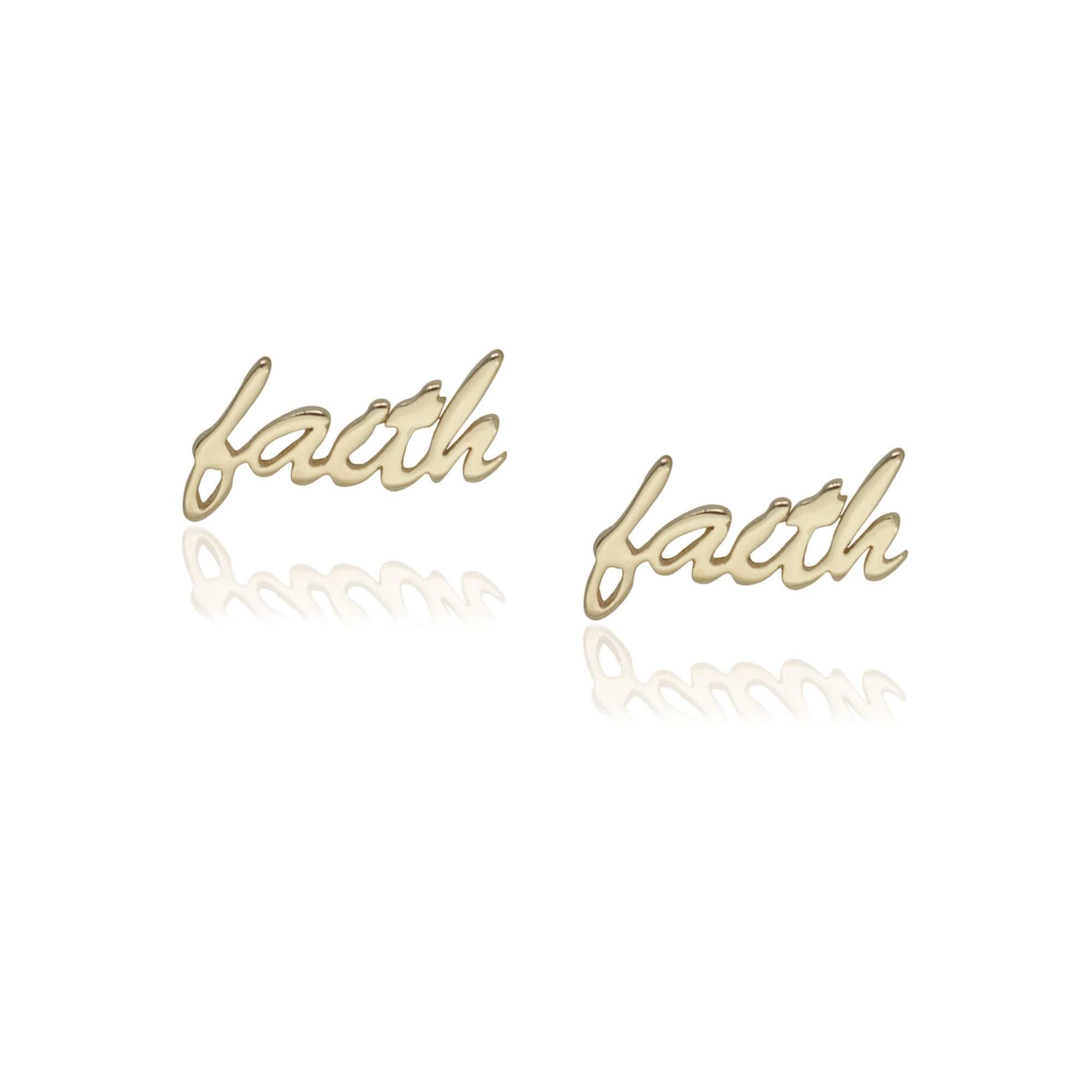 """Brinco semi joia """"faith"""" banhada a ouro 18k ou rhodium"""