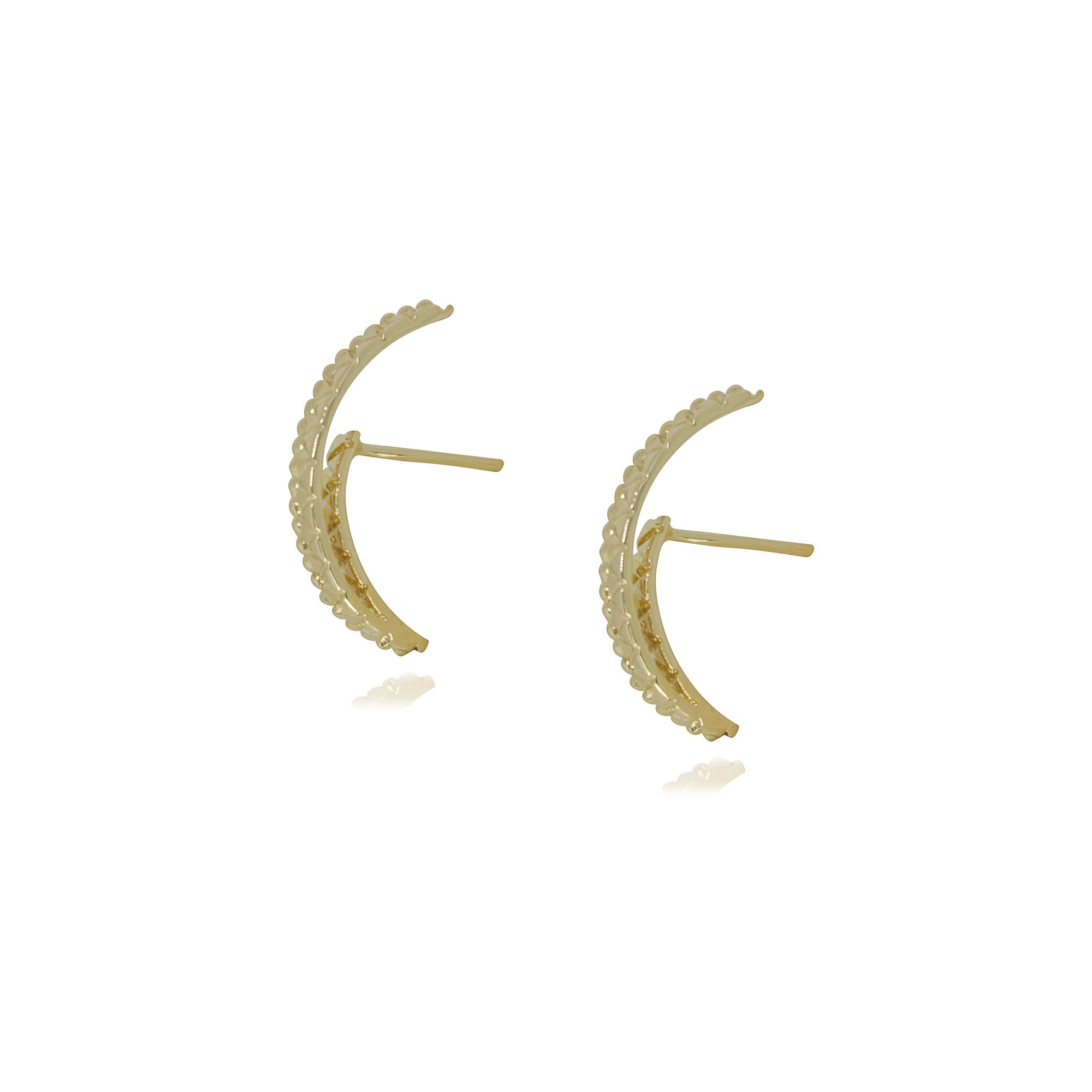 Brinco Semi joia Ornamento banhado a ouro 18k ou rhodium