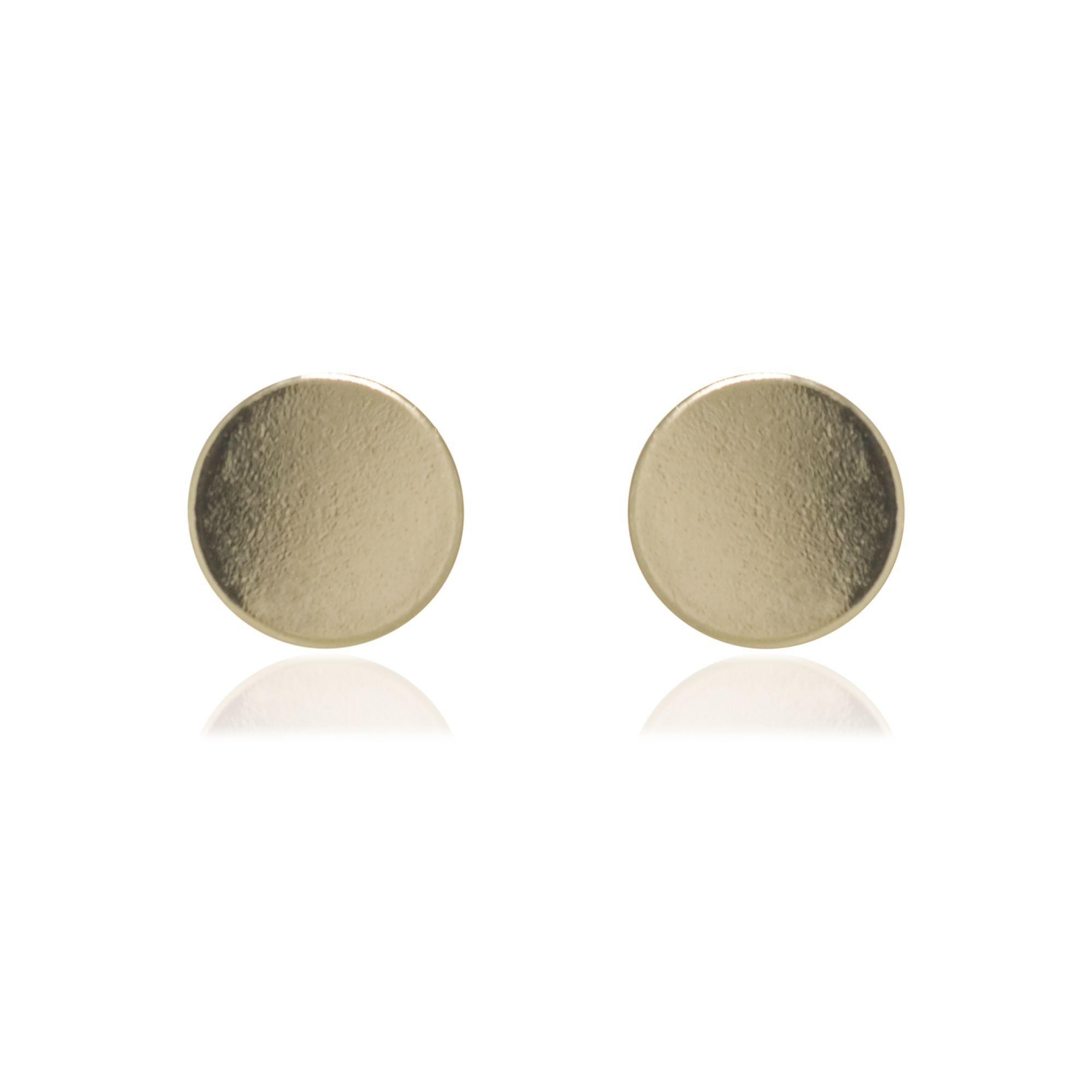 Brinco Semi joia redondo mini estilo minimalista banhado a ouro18k ou rhodium