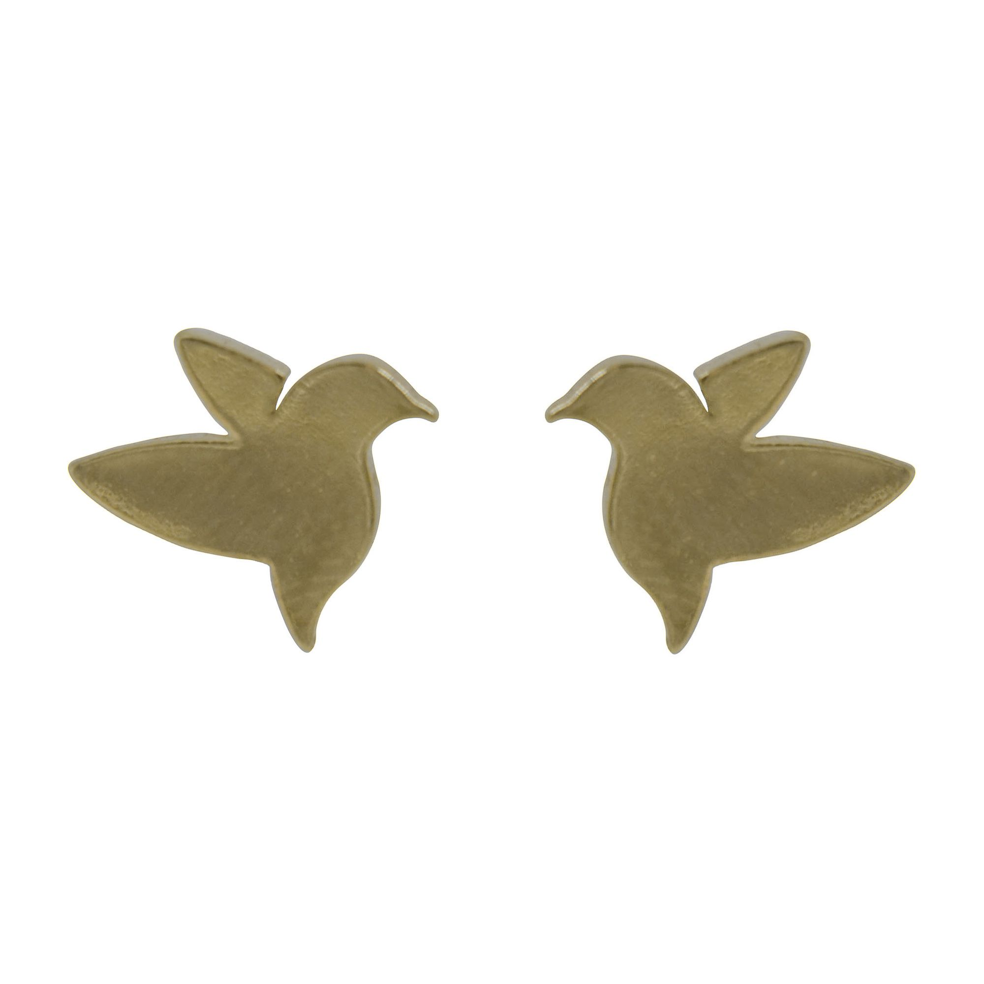 Brincos Semi joia  pássaros Beija Flor banhados a ouro 18k ou rhodium