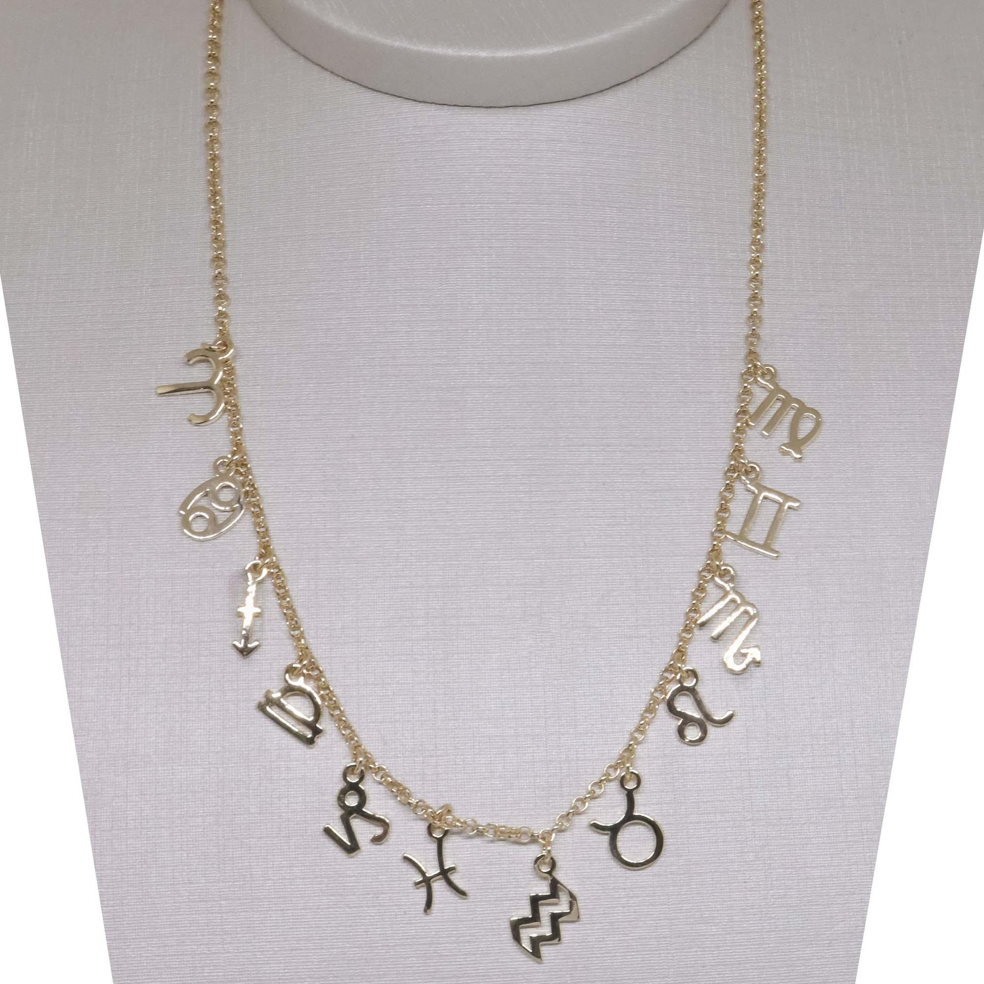 Colar Choker Semi joia Signos banhada a ouro 18k ou rhodium