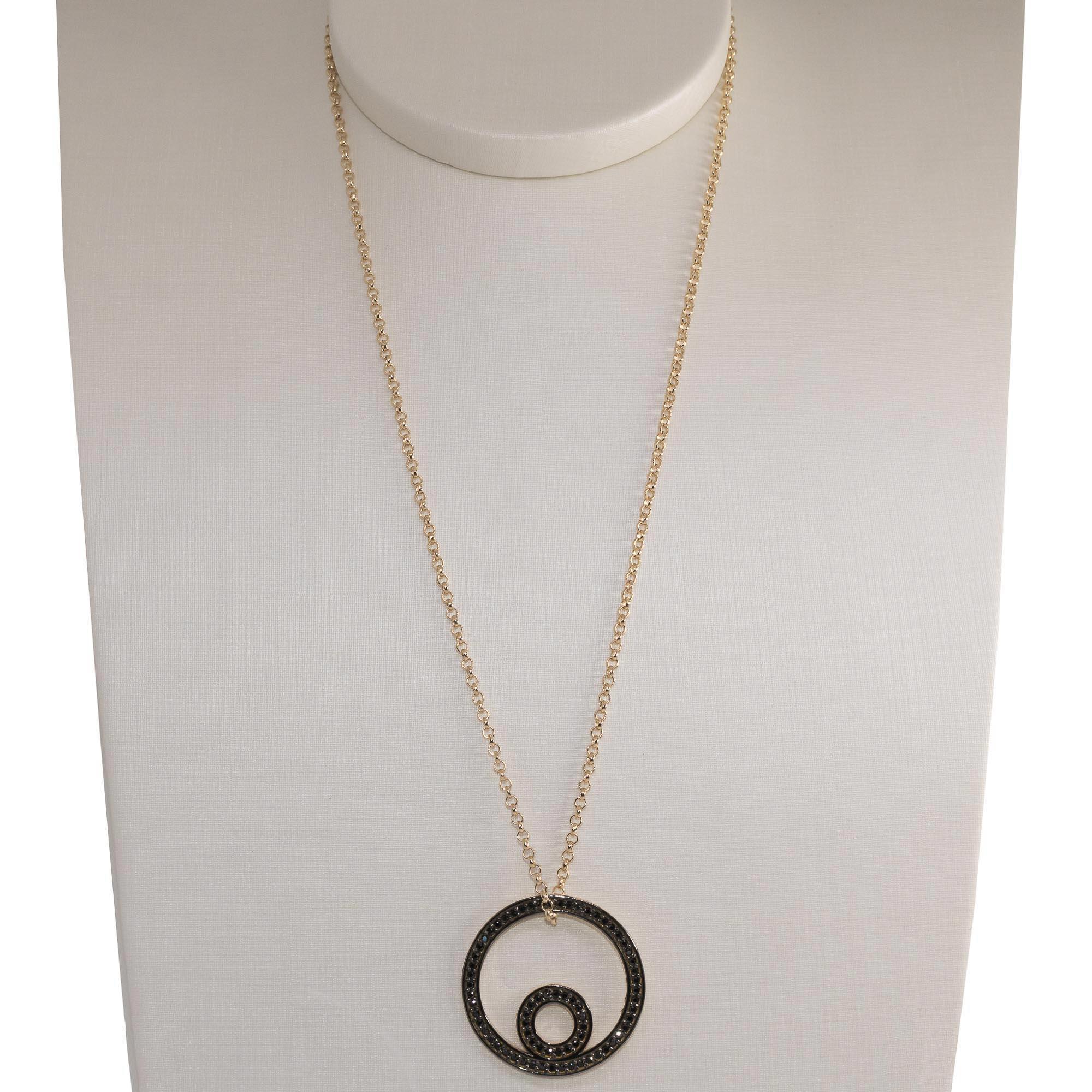Colar Semijoia  círculo duplo Mimos banhado a ouro 18k ou rhodium