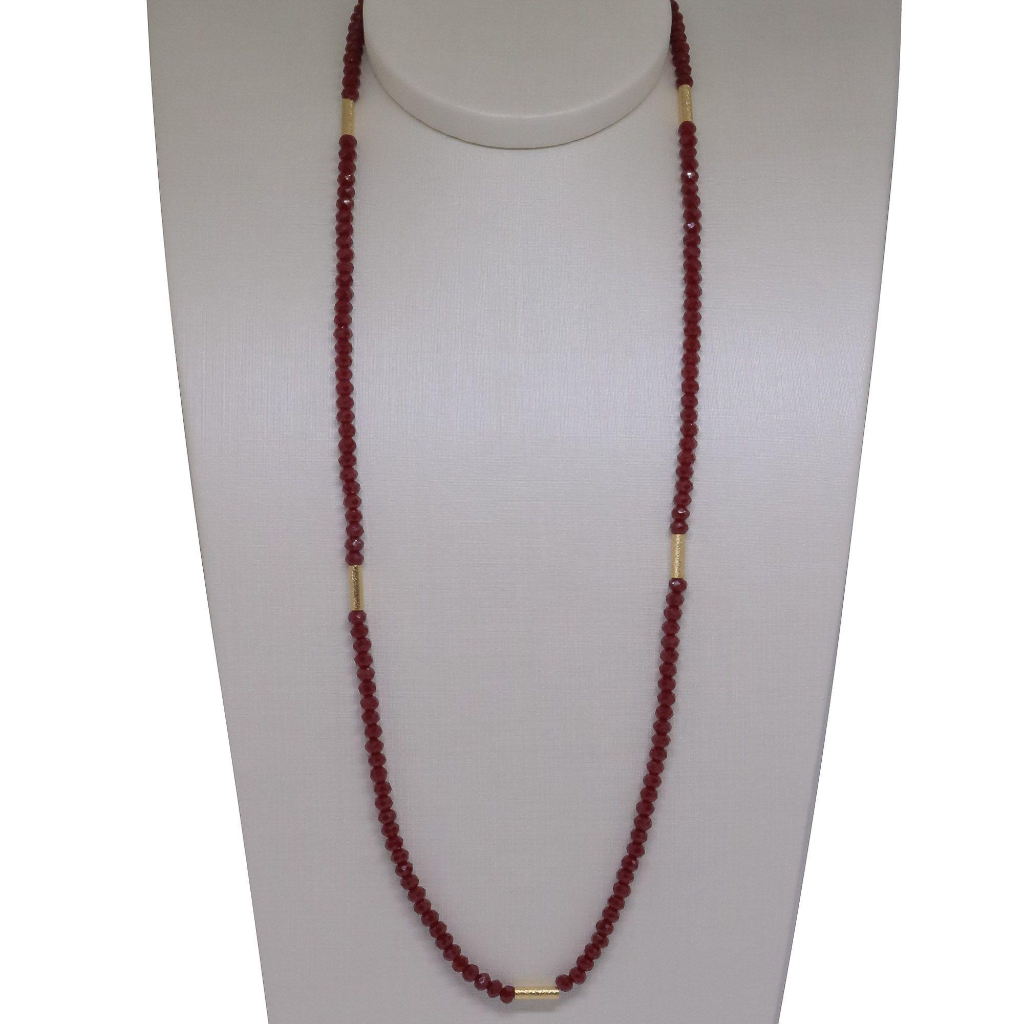 Colar Semi joia  Cristais Tiras com 100 cm banhado a ouro 18k ou rhodium