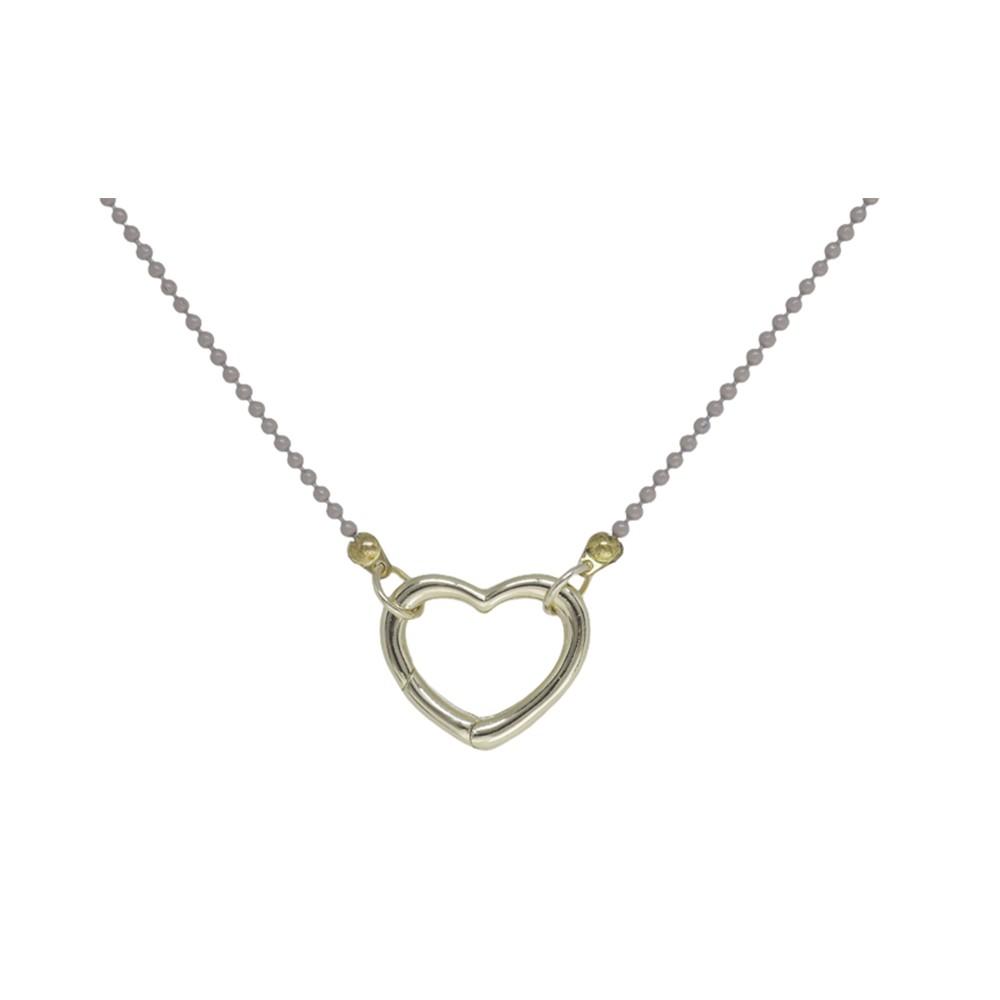 Colar folheado ouro ou prata e verniz Coração para pingentes
