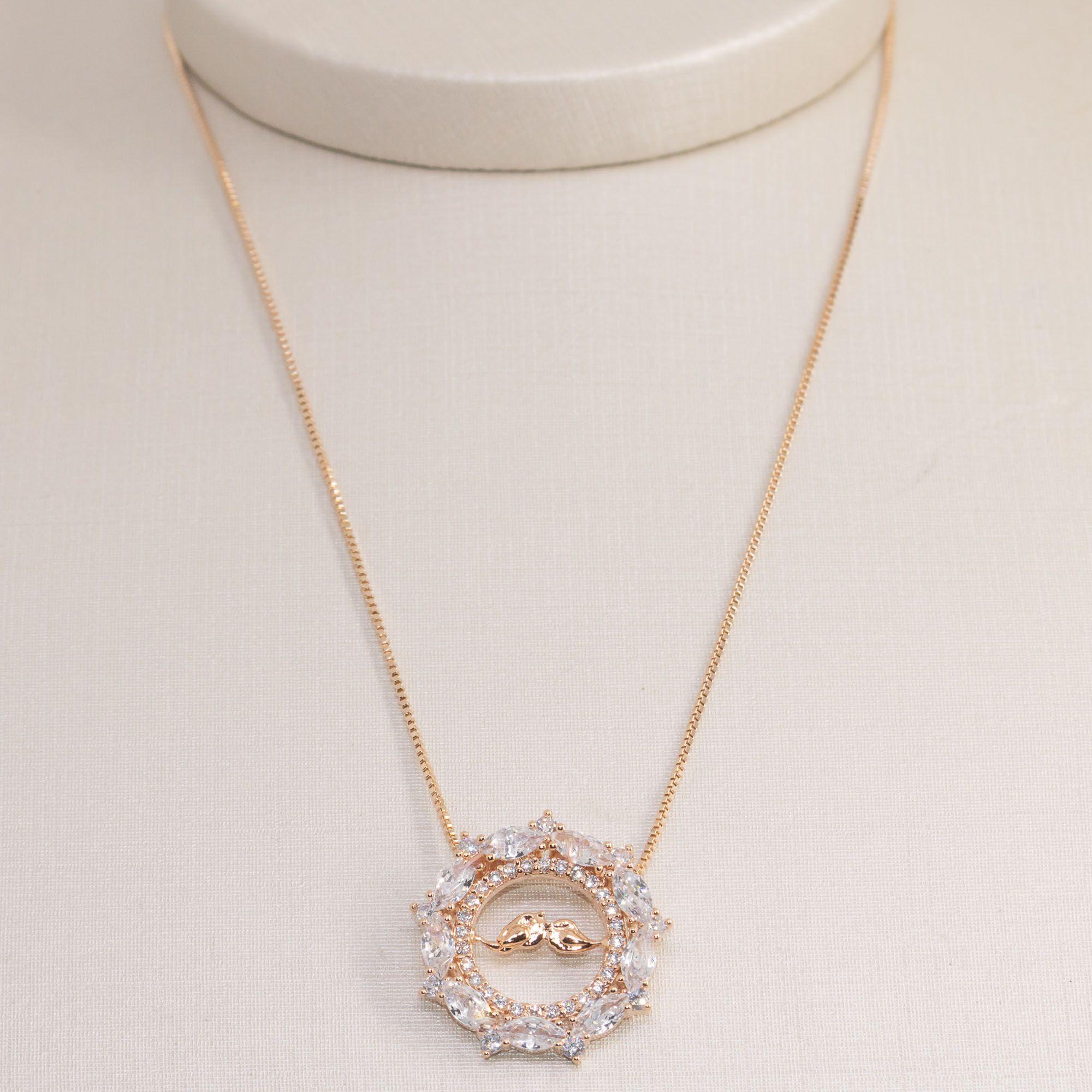 Colar Semi joia  mandalinha Casais  banhado a ouro 18k ou rhodium
