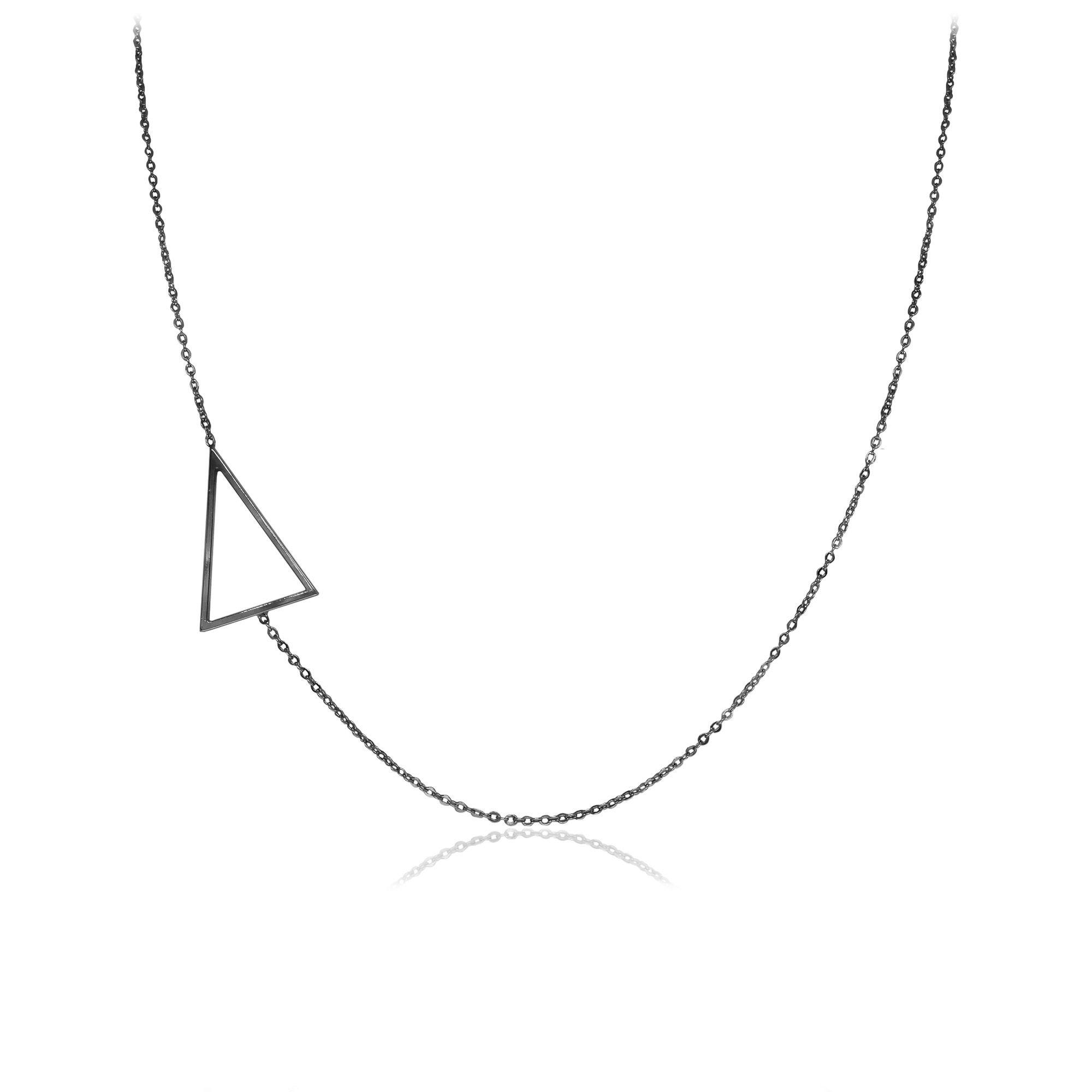 Colar semijoia em estilo minimalista folheado Triângulo