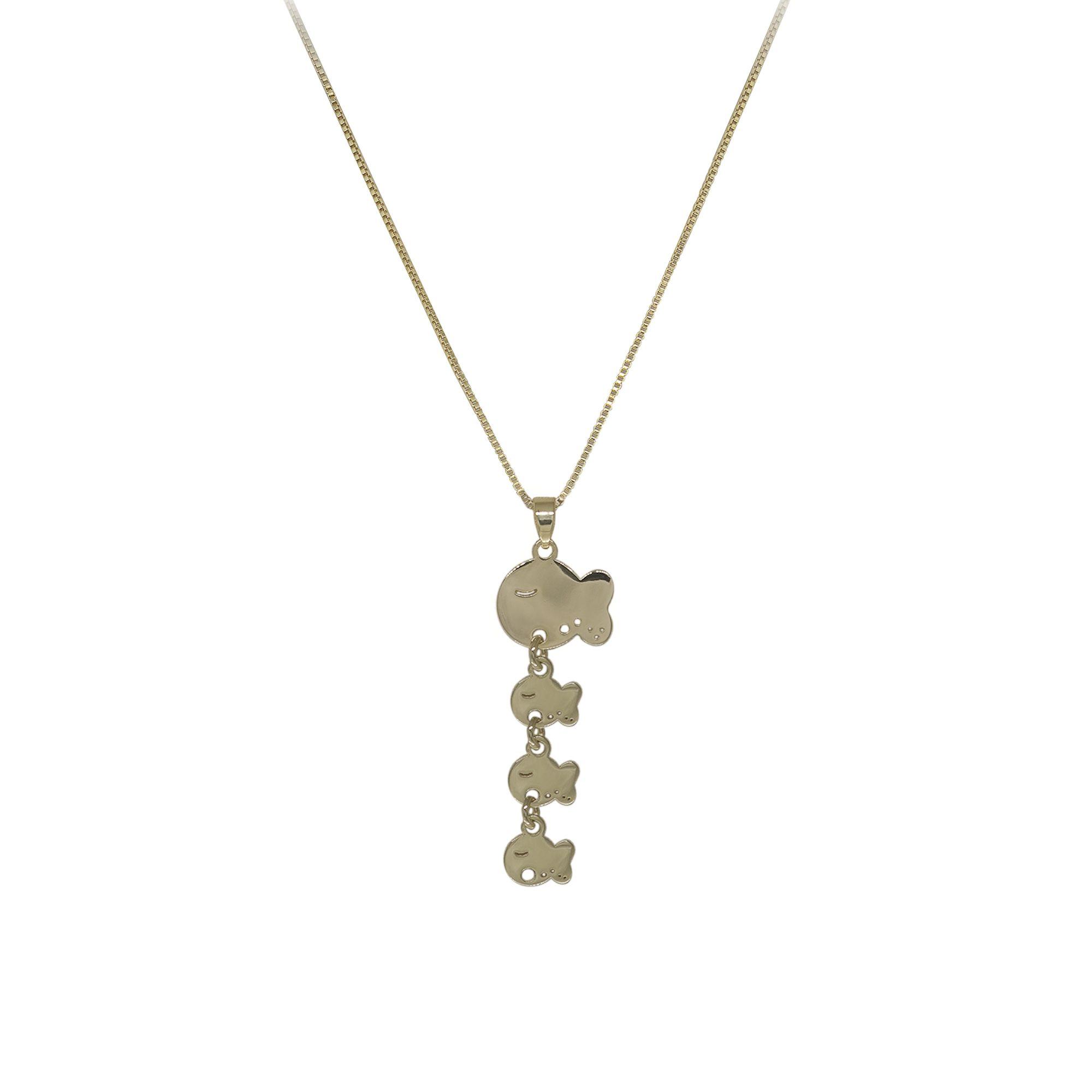 Colar Semi joia Mãe Peixinha folheado a ouro 18k ou rhodium