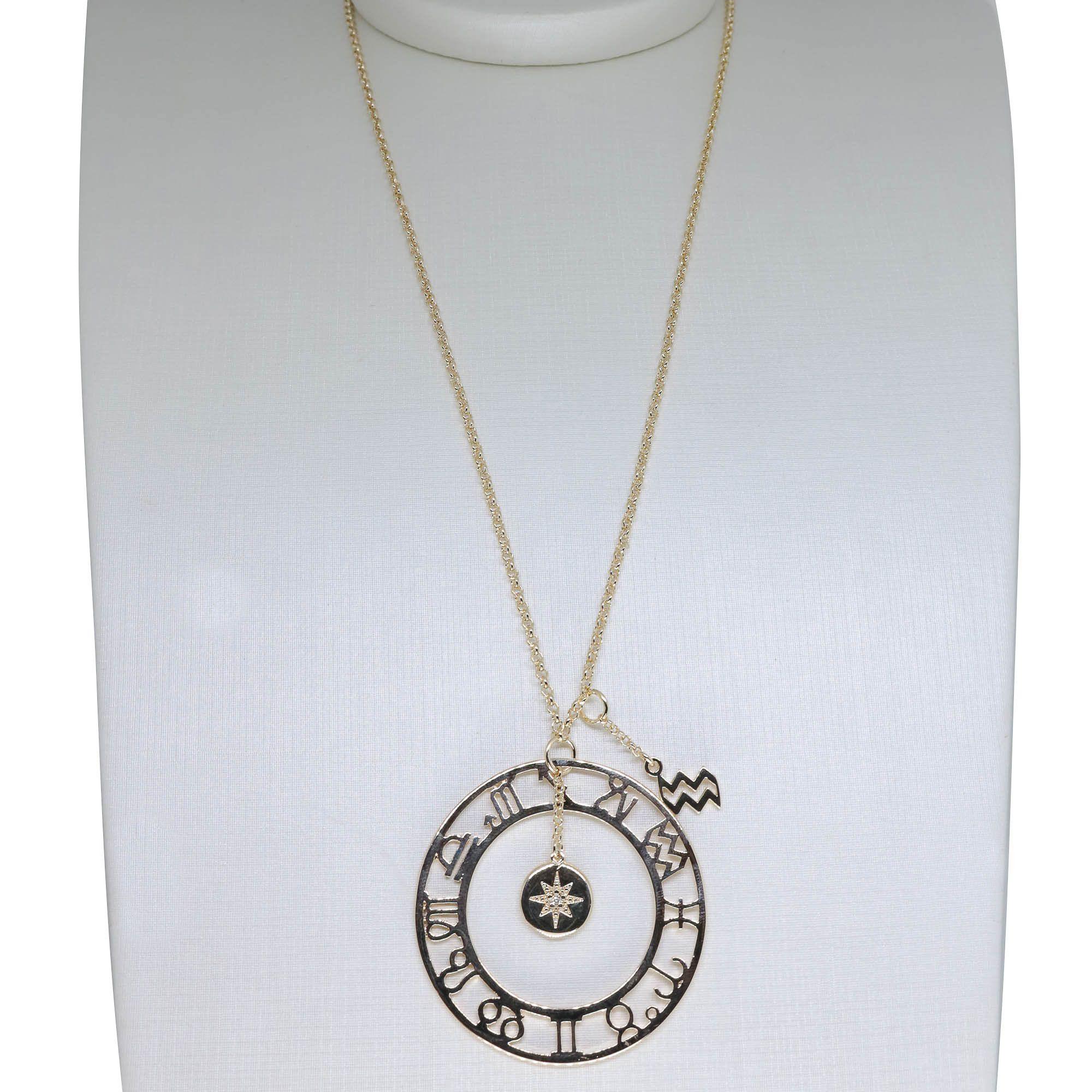 Colar Semi joia Mandala Signos banhado a ouro 18k ou rhodium