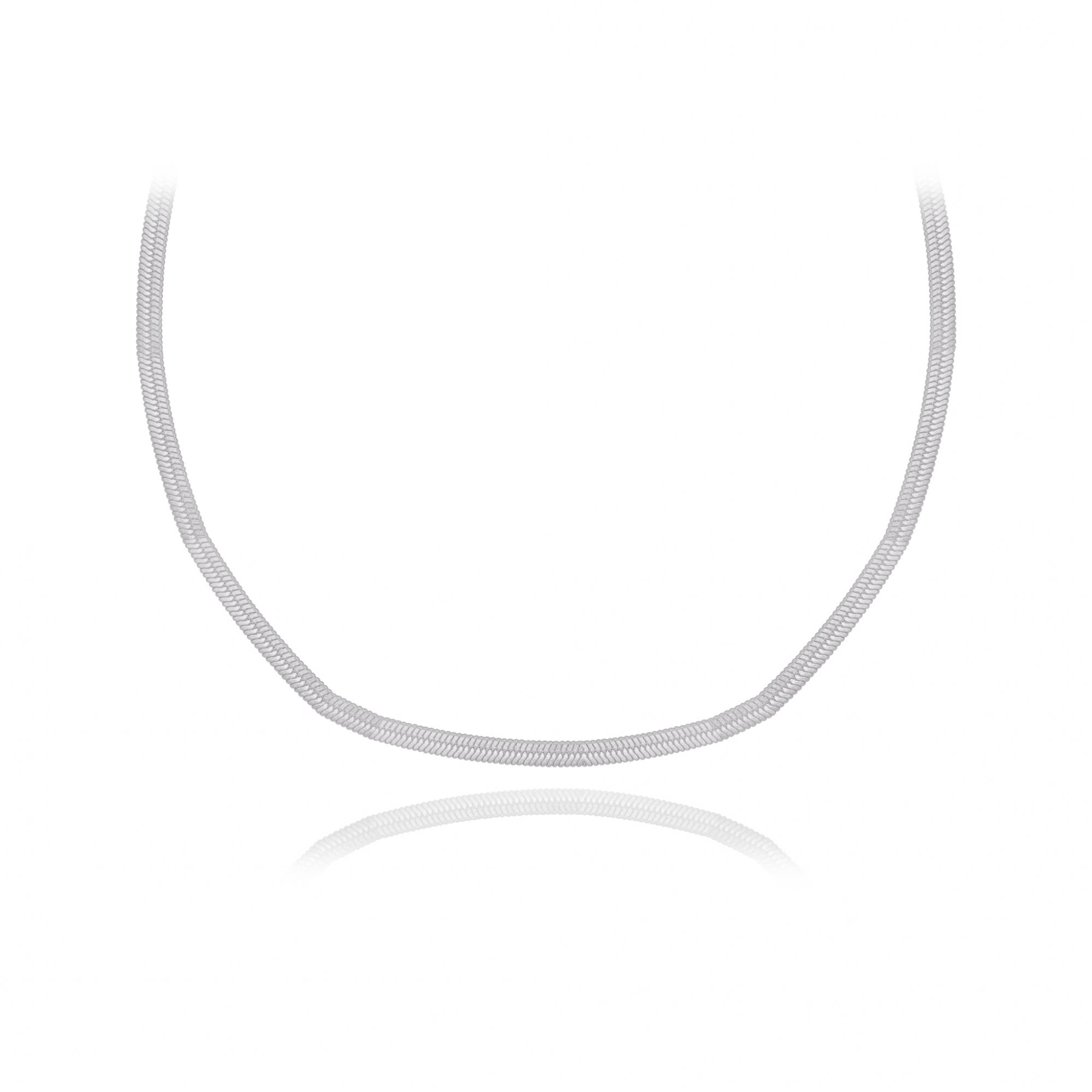Corrente joia prata 925 maciça modelo Lacraia hipoalergênica