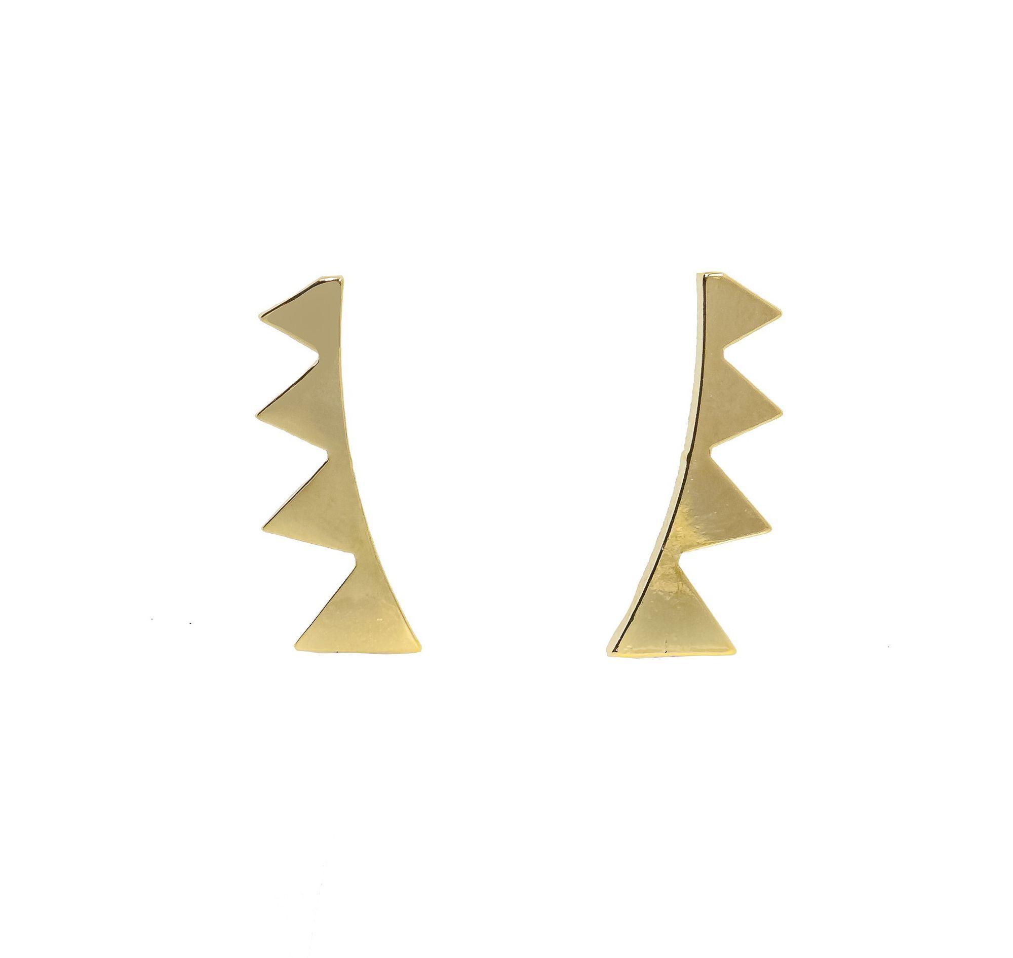 Brinco Semi joia Ear cuff Pontas folheado a ouro 18k ou rhodium