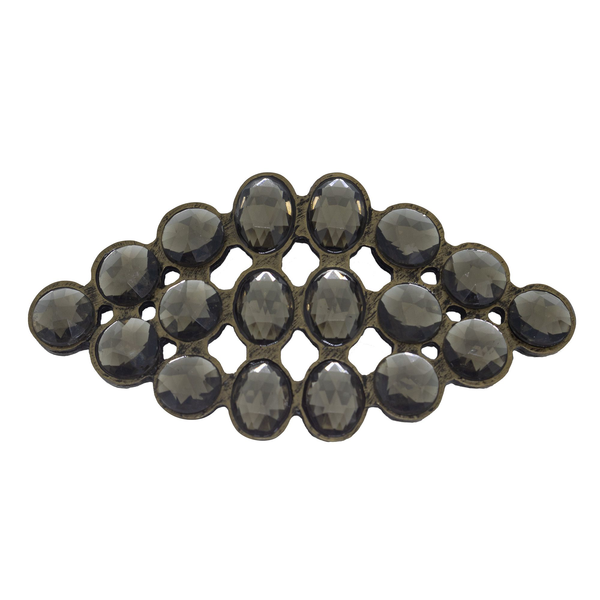 Fivela losango para cinto troca fivela com cristais diversos