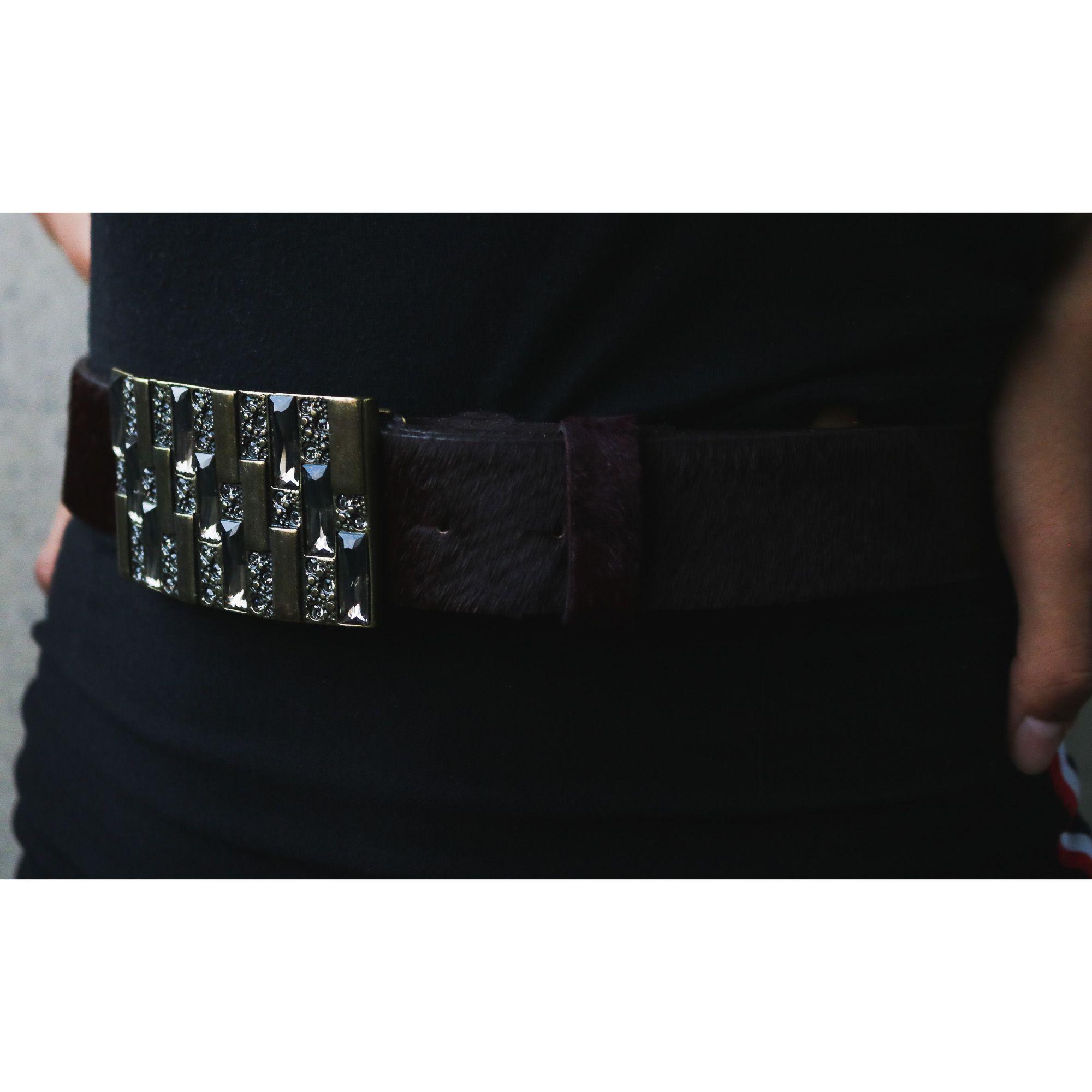 Fivela para cinto troca fivela com cristais black diamond