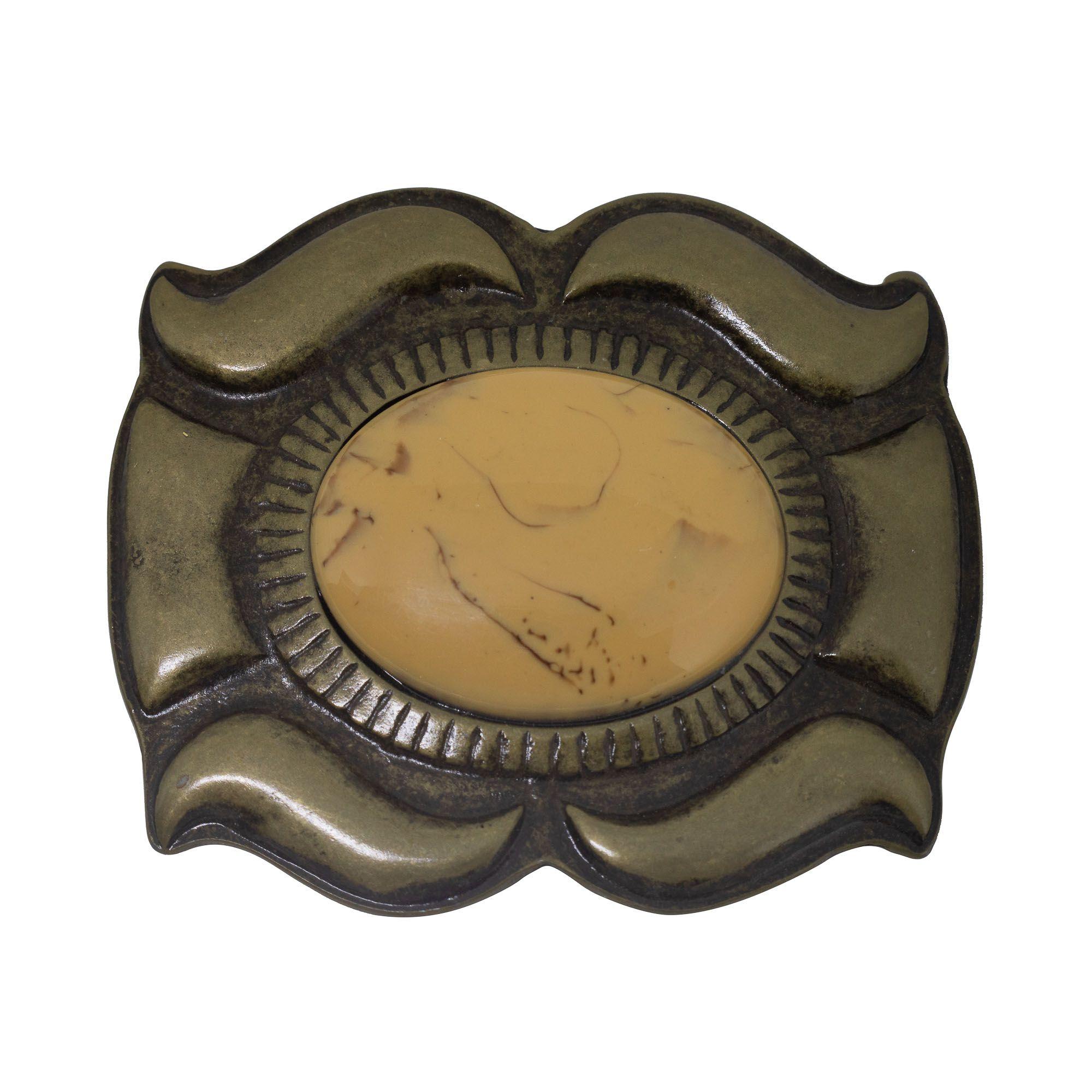 Fivela para cinto troca fivela em ouro velho e resina