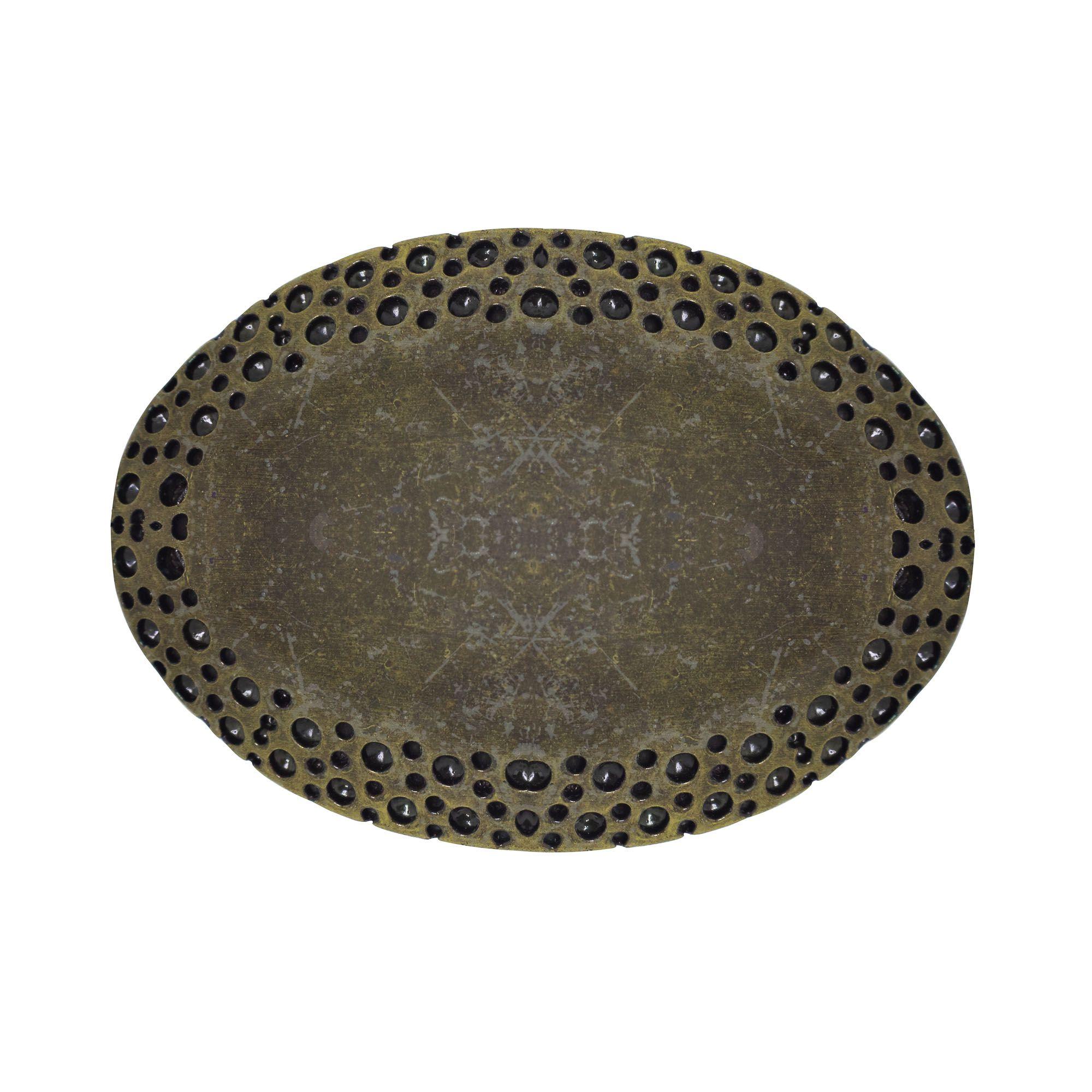 Fivela para cinto troca fivela em metal de ouro velho oval
