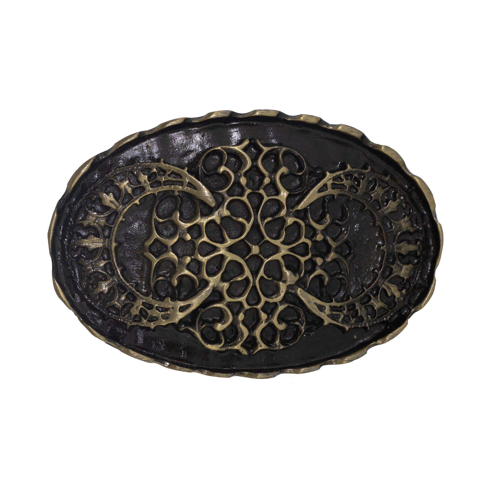 Fivela para cinto troca fivela em metal ouro velho oval