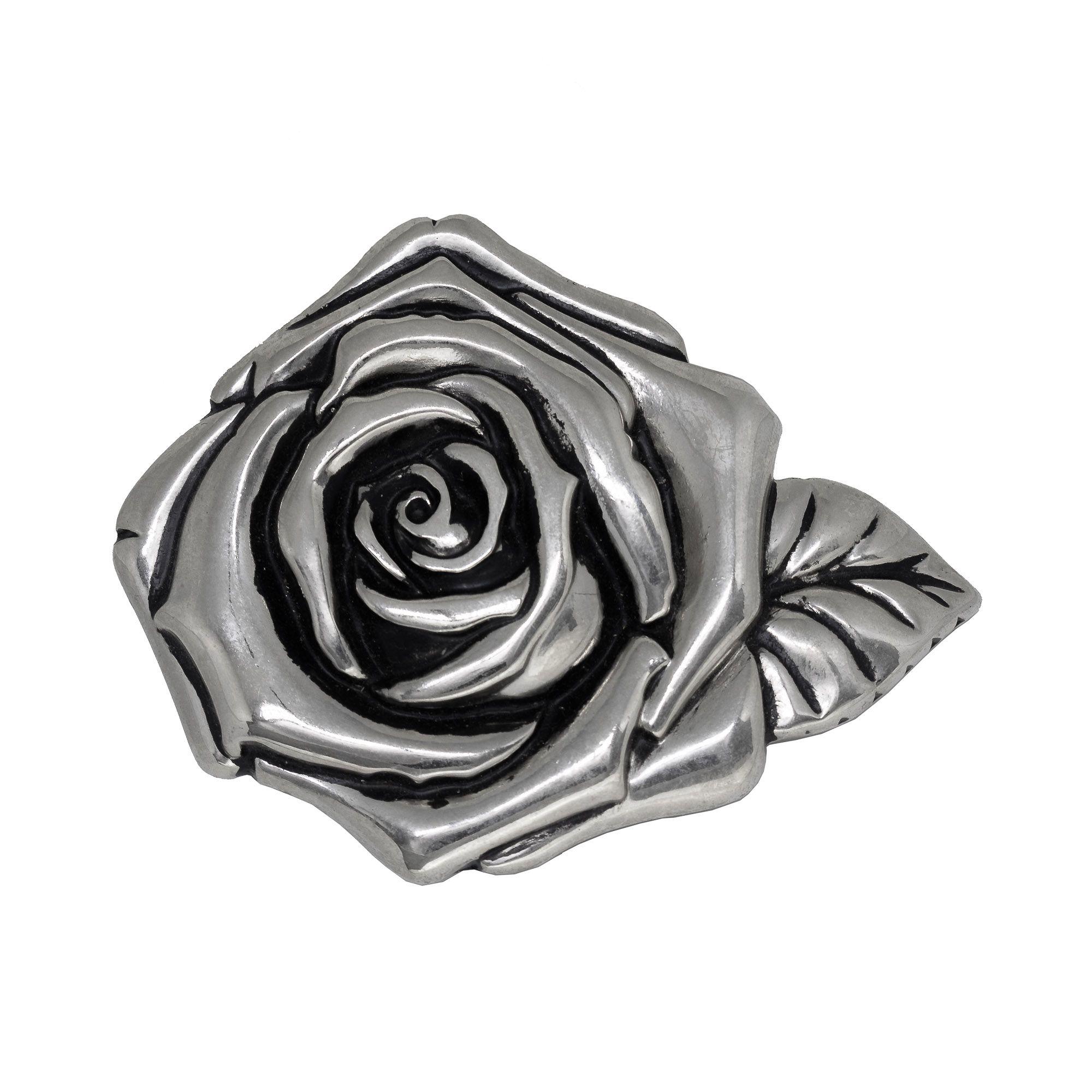Fivela para cinto troca fivela em prata envelhecida Rosa