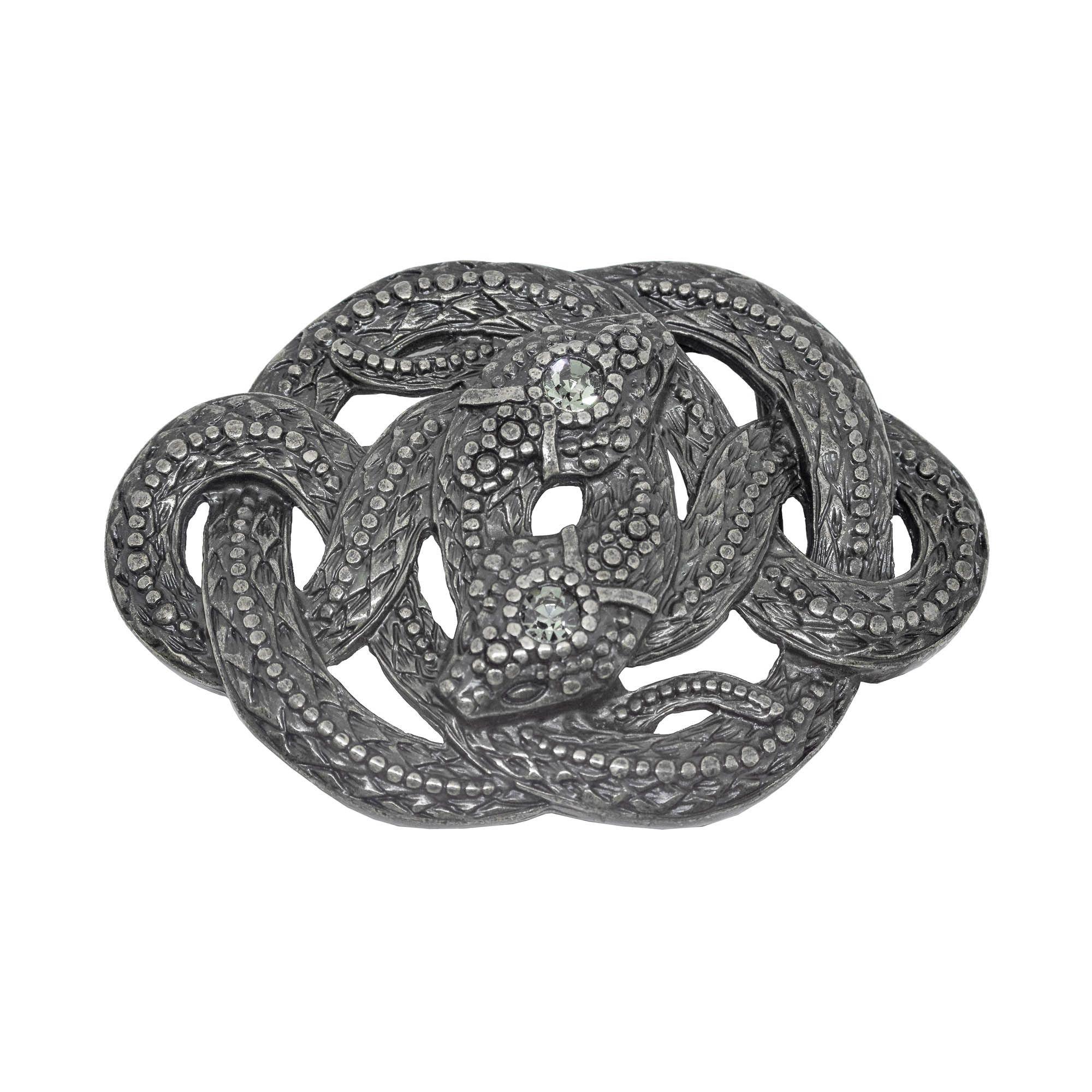 Fivela para cinto troca fivela em strass cabeça de serpentes