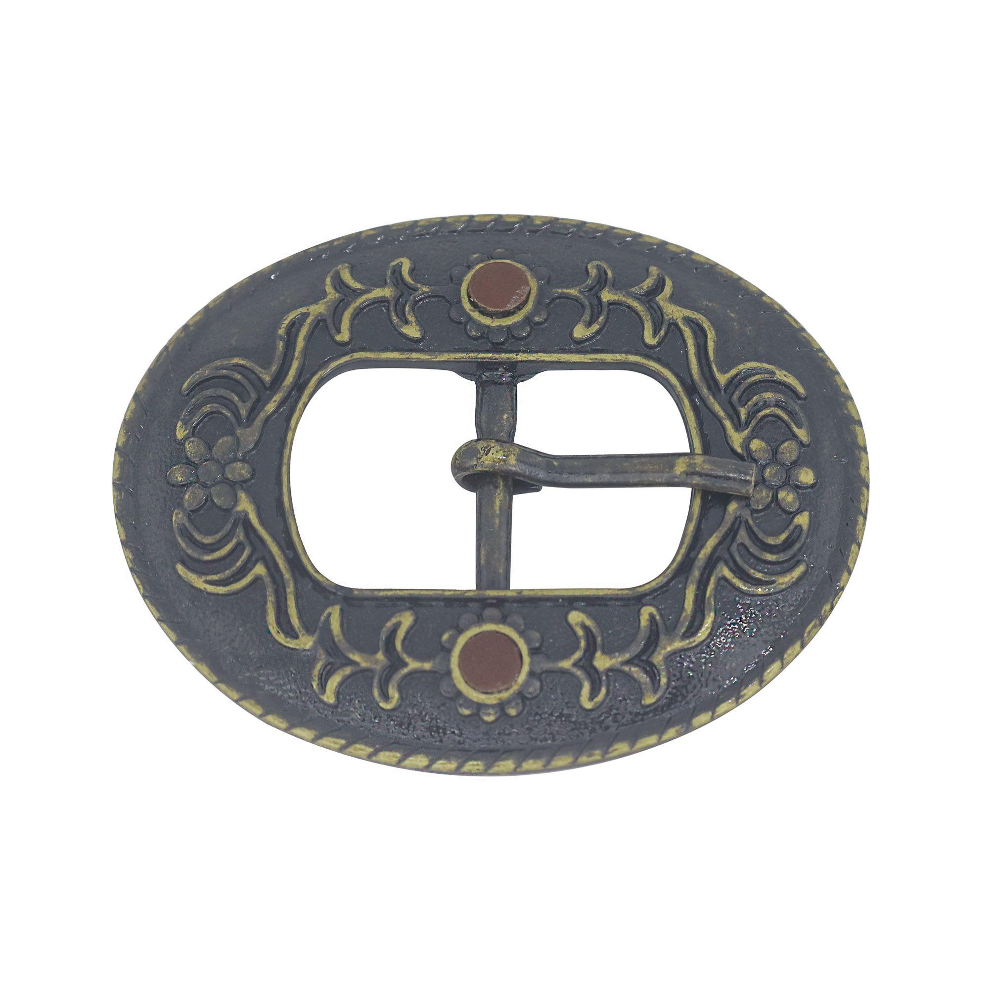 Fivela para cinto troca fivela fina em metal oval e resina