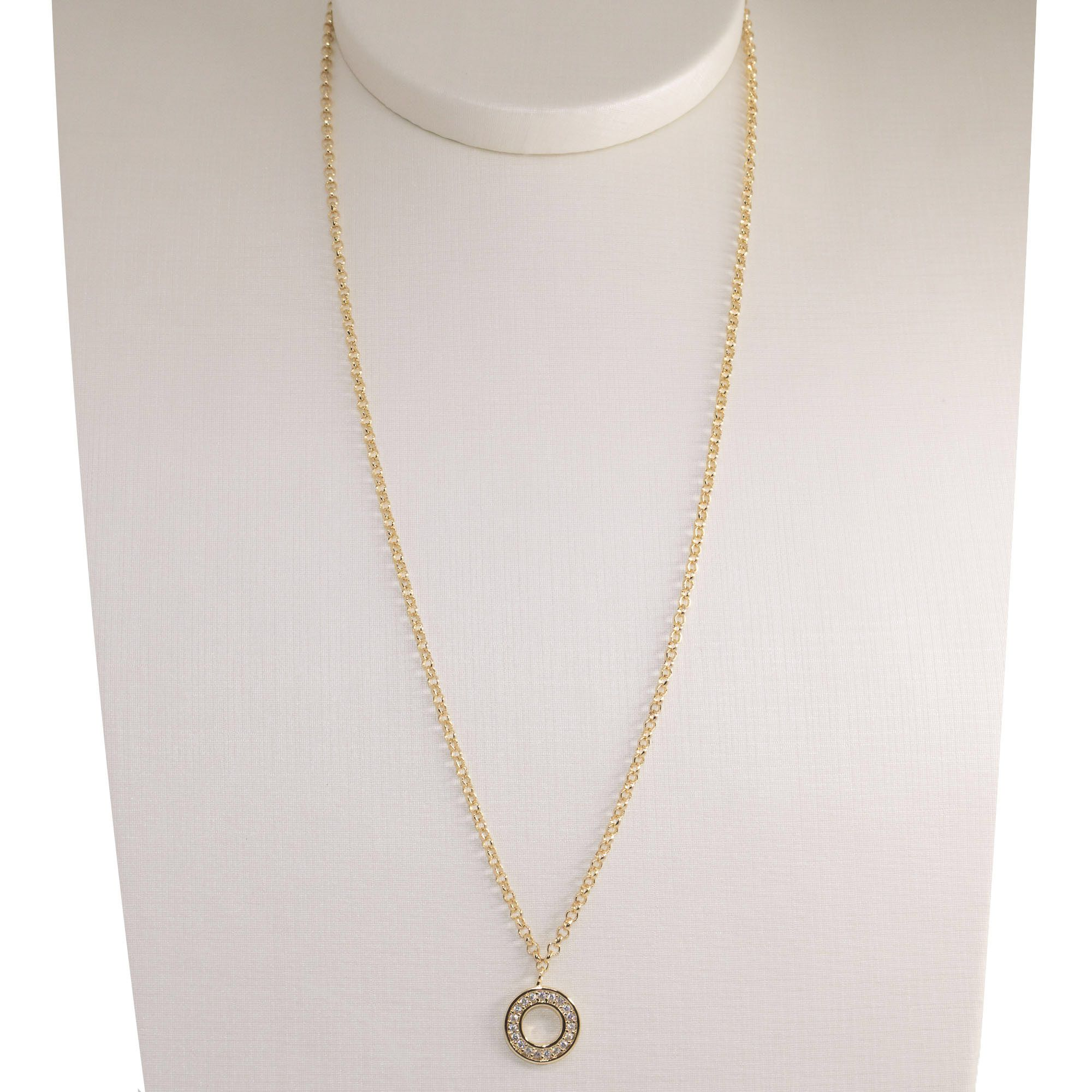 Gargantilha Semi joia  círculo Mimos banhada a ouro 18k ou rhodium